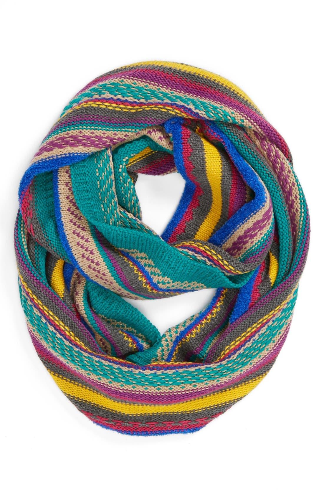 Alternate Image 1 Selected - Echo 'Nostalgic Stripe' Knit Infinity Scarf