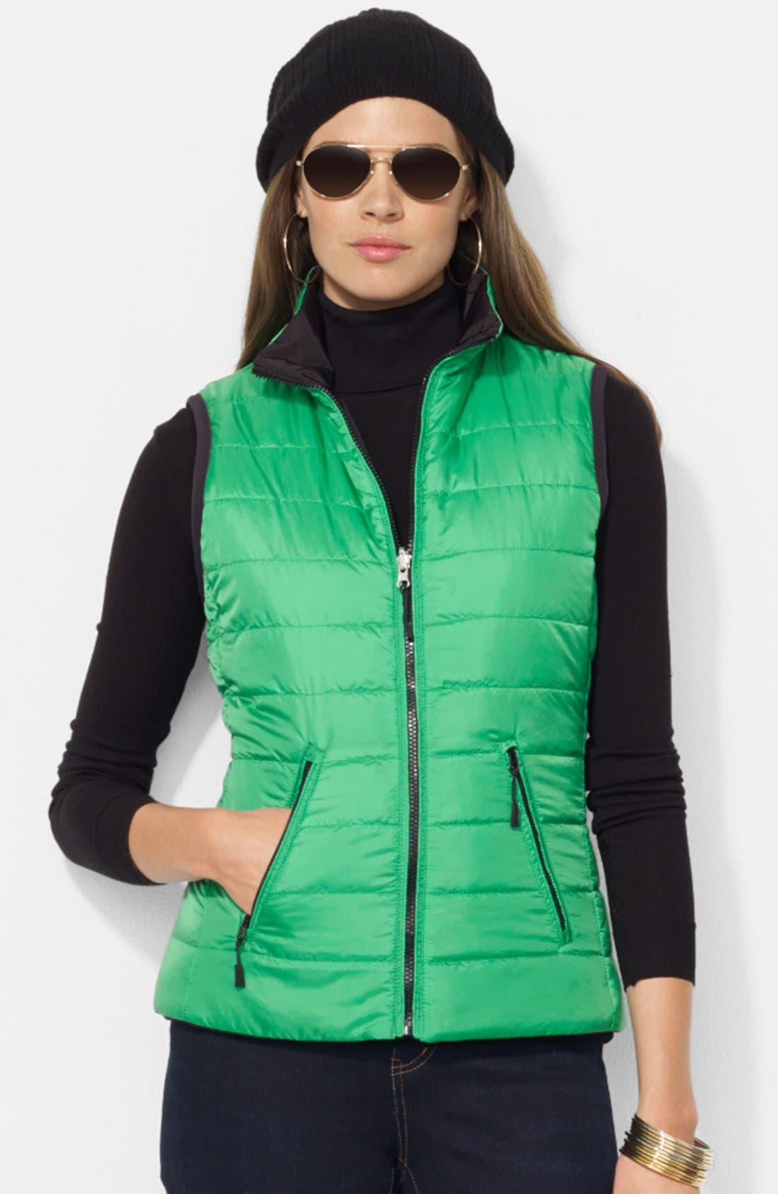 Main Image - Lauren Ralph Lauren 'Vashya' Puffer Vest (Petite)