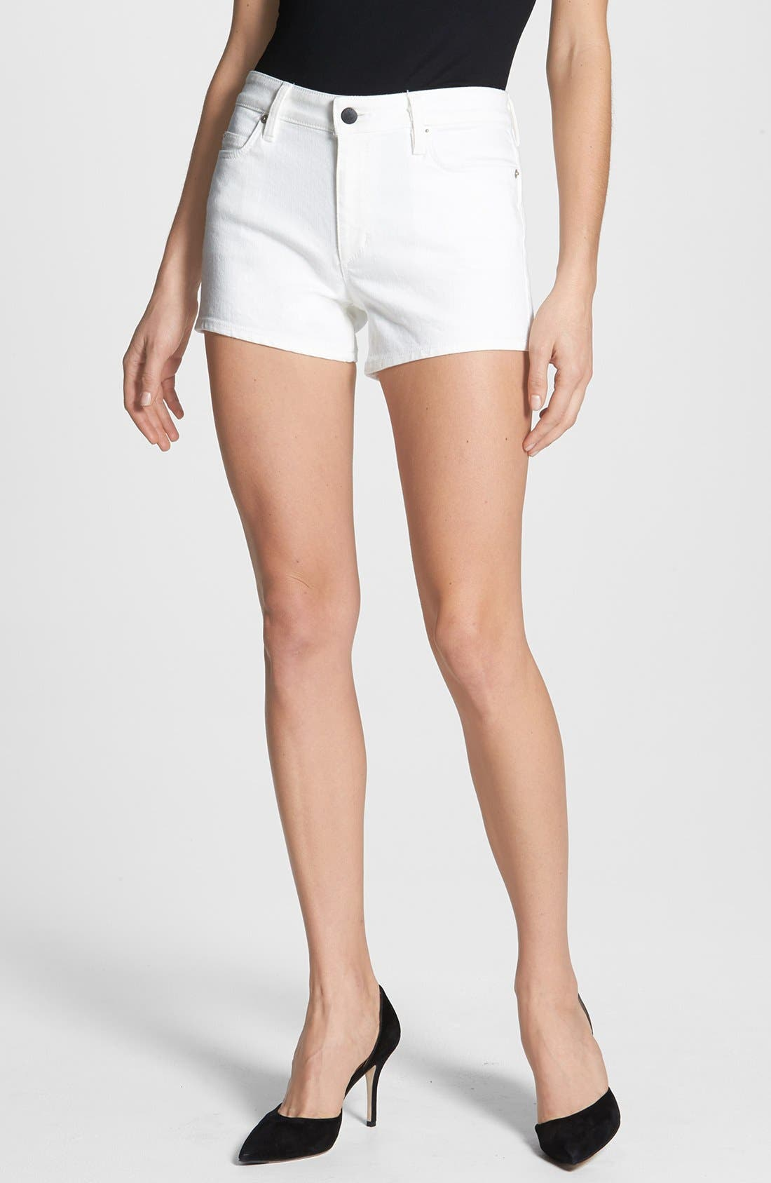 Main Image - Theory 'Mikee' Denim Shorts (White)