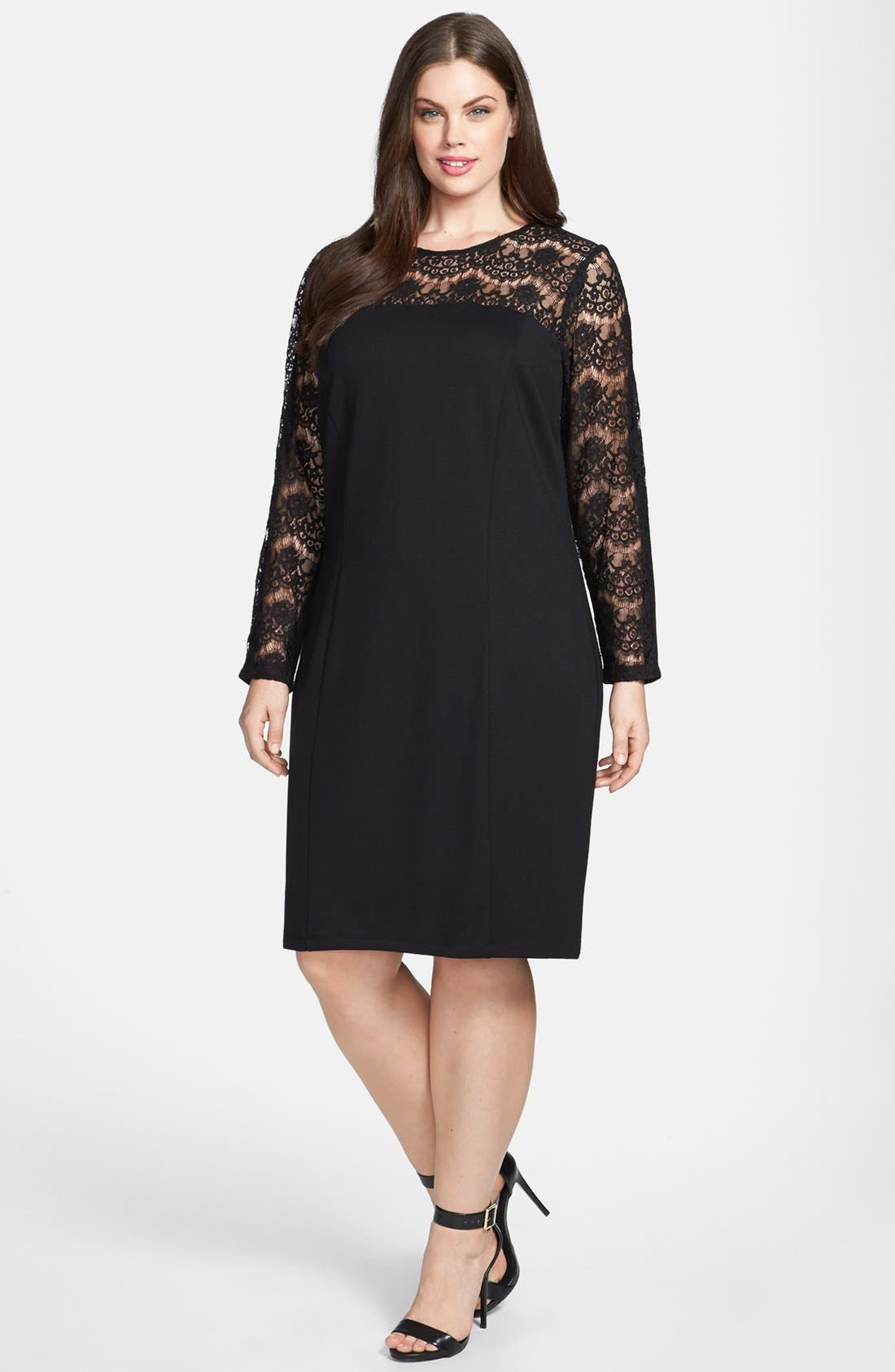 Alternate Image 1 Selected - Jessica Simpson Lace Dress (Plus Size)
