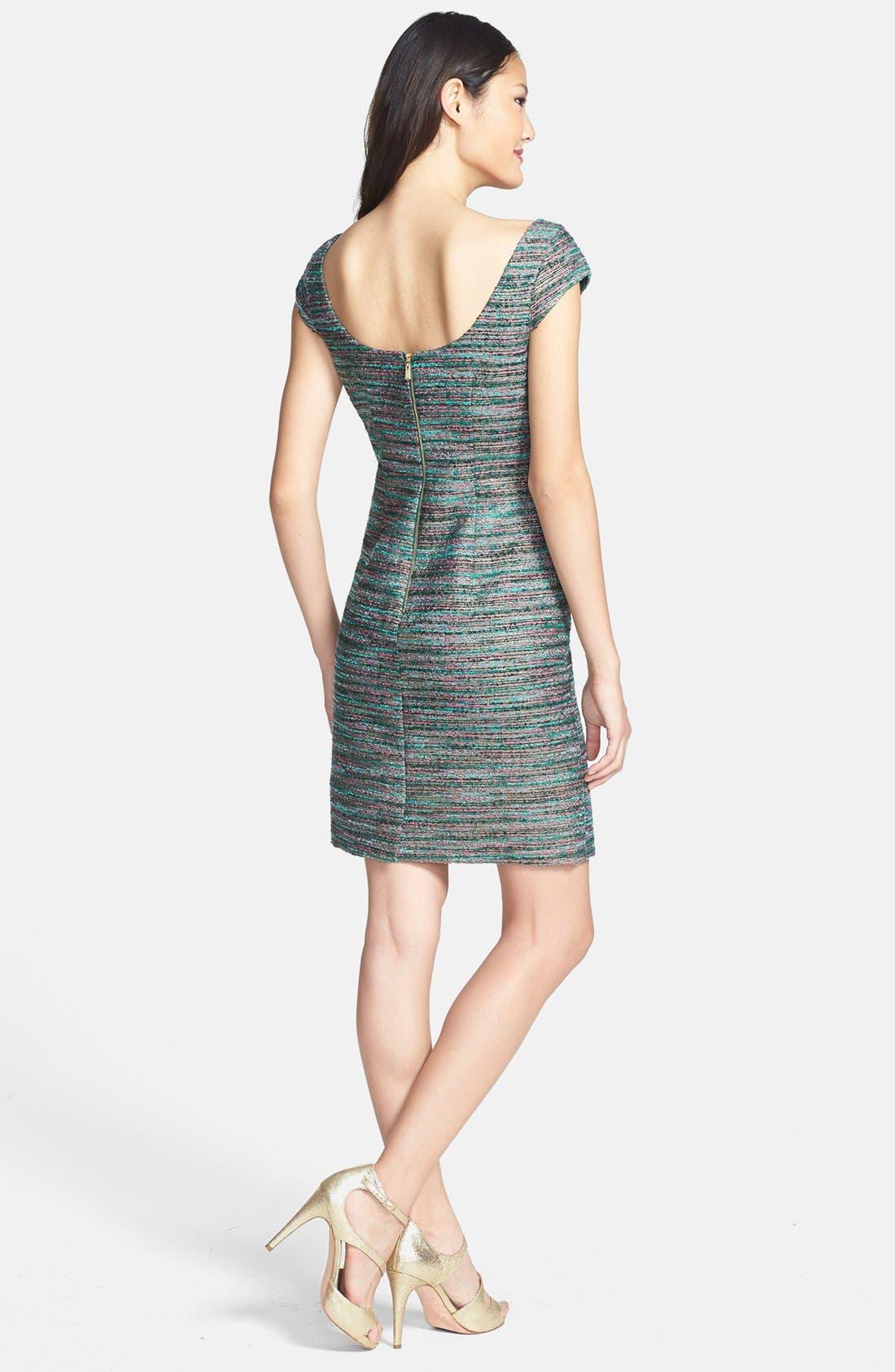 Alternate Image 2  - Laundry by Shelli Segal Embellished Bouclé Sheath Dress