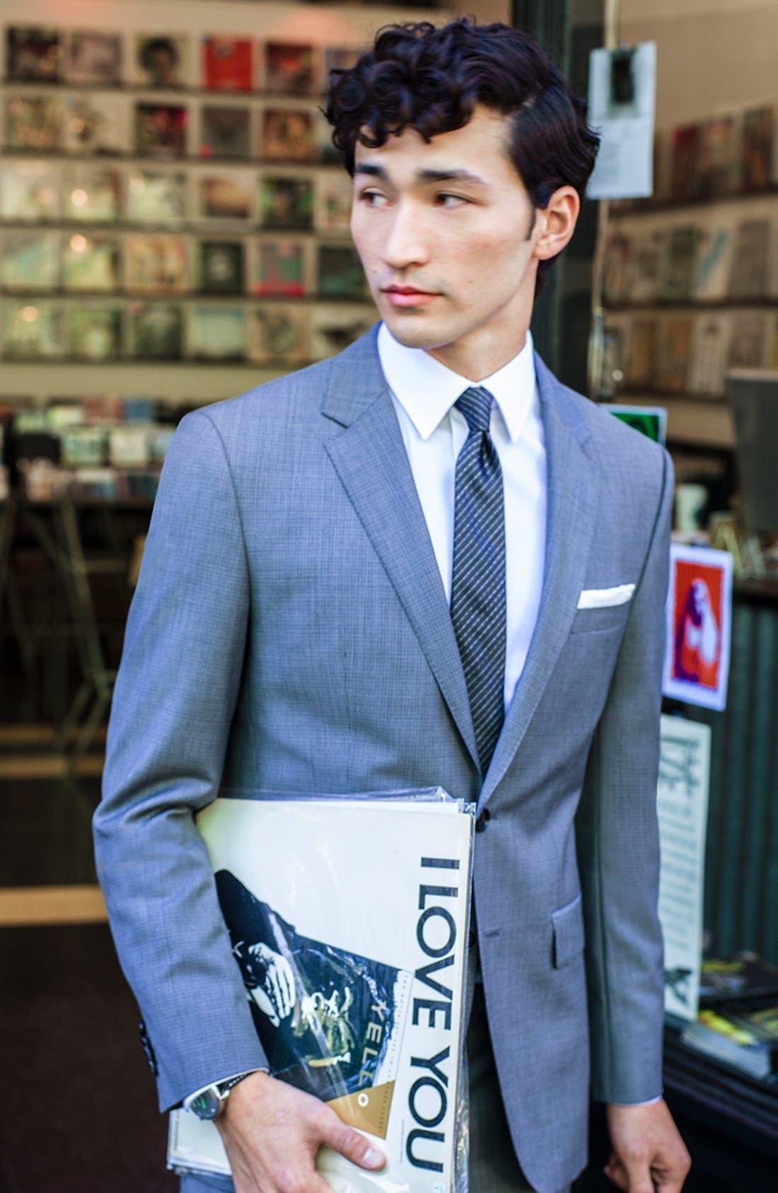 Alternate Image 6  - BOSS HUGO BOSS 'James/Sharp' Trim Fit Houndstooth Suit