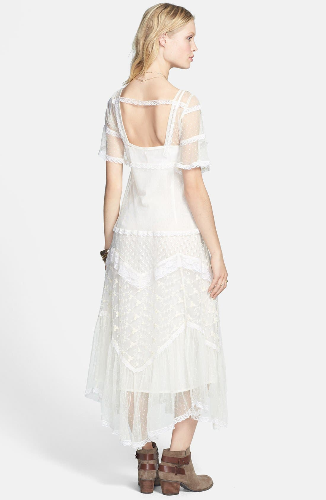 Alternate Image 2  - Free People 'Elson' Mixed Lace Maxi Dress