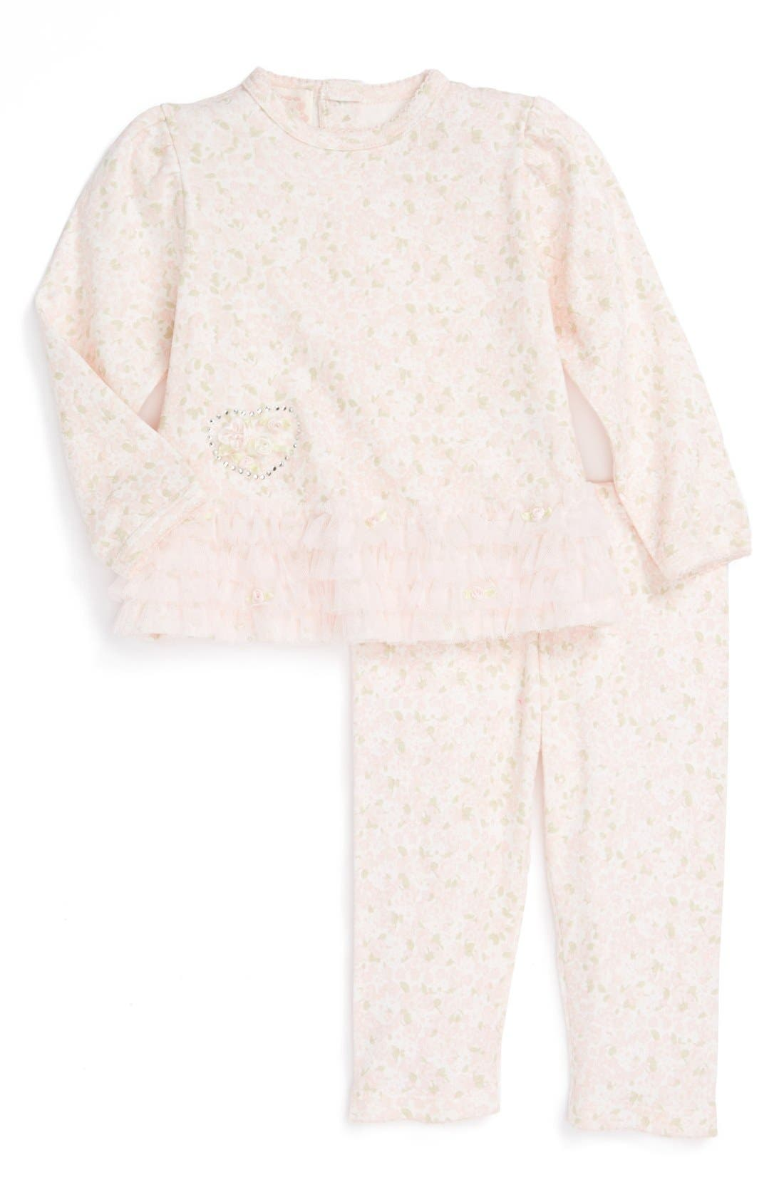 Alternate Image 1 Selected - Biscotti Top & Pants (Baby Girls)