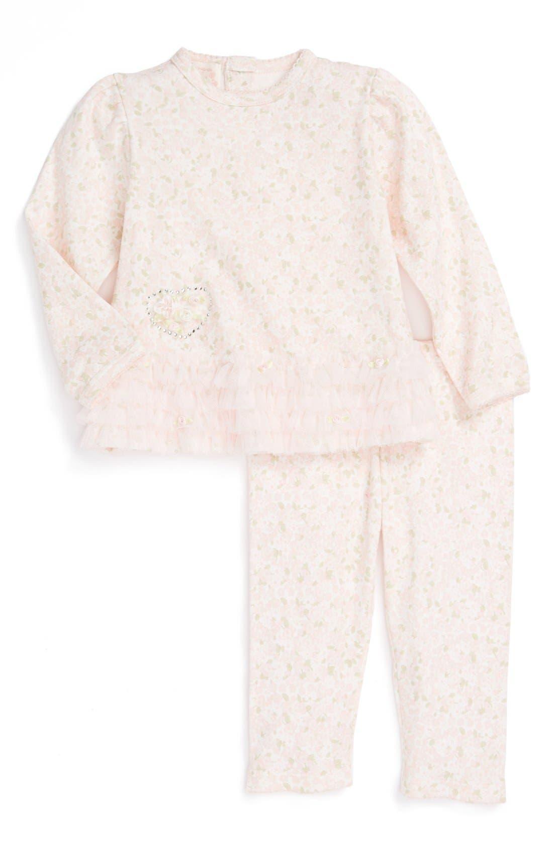 Main Image - Biscotti Top & Pants (Baby Girls)