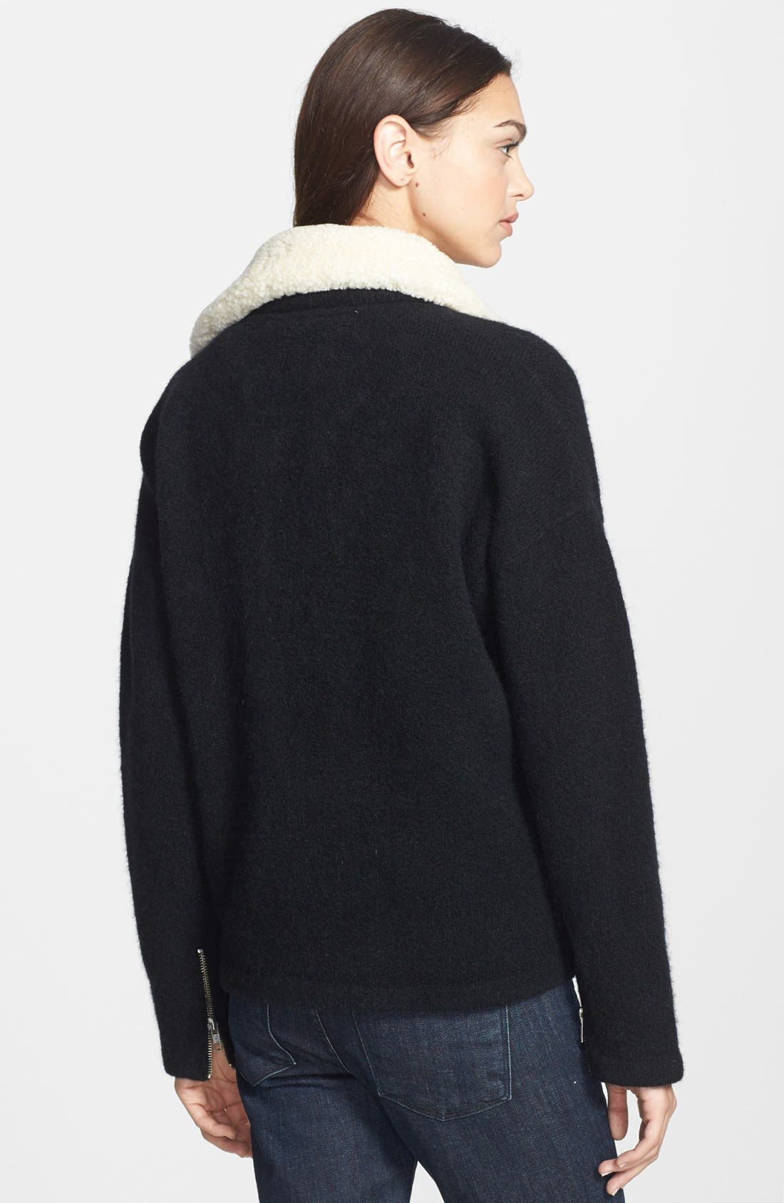 Alternate Image 2  - Theory 'Hex' Genuine Shearling Collar Jacket