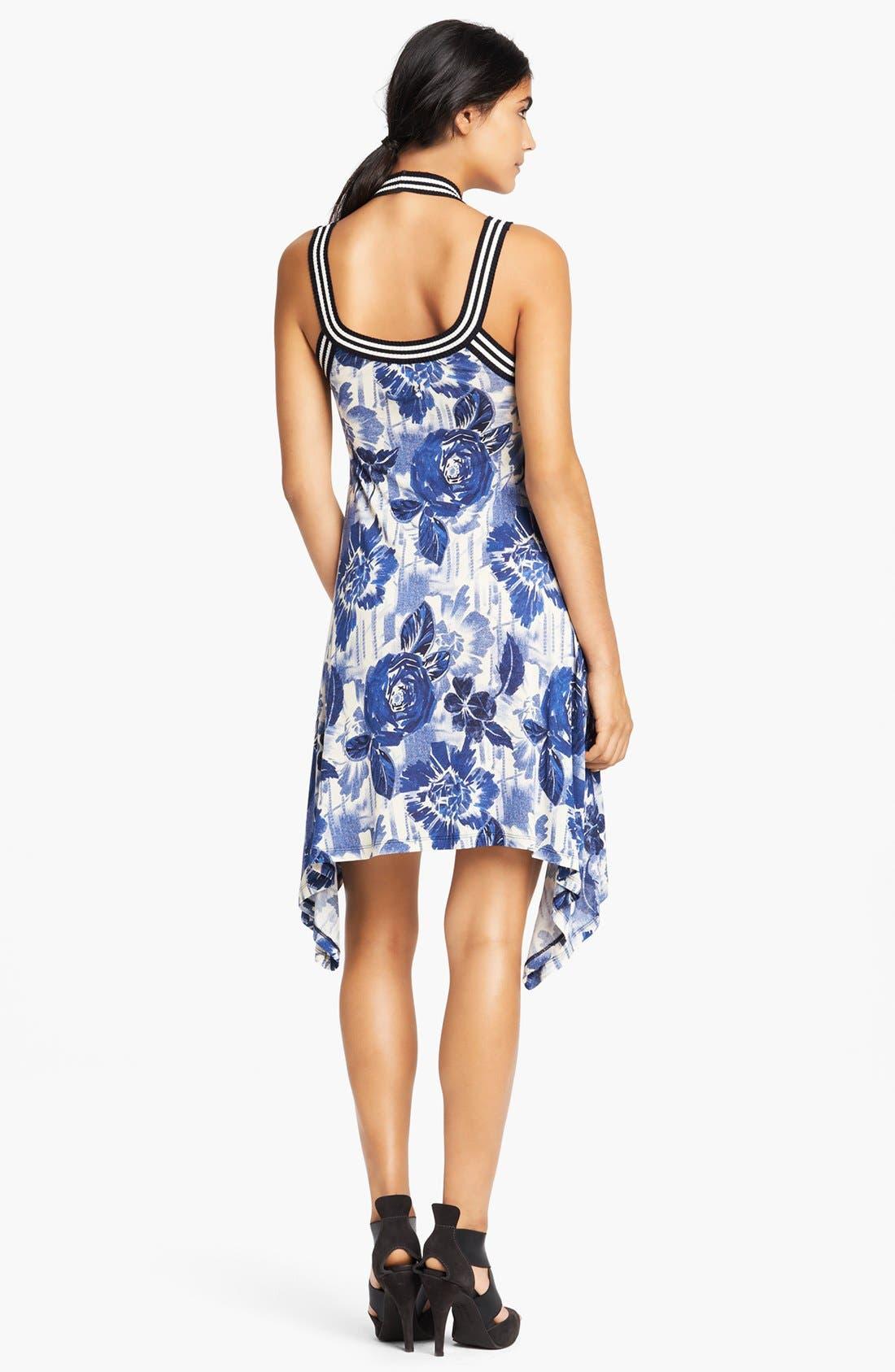 Alternate Image 2  - Jean Paul Gaultier Rose Print Jersey Tank Dress