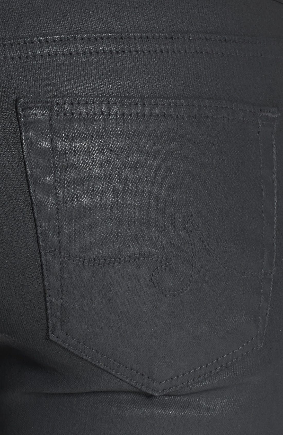 Alternate Image 3  - AG 'The Absolute Legging' Coated Skinny Jeans (Dark Grey)