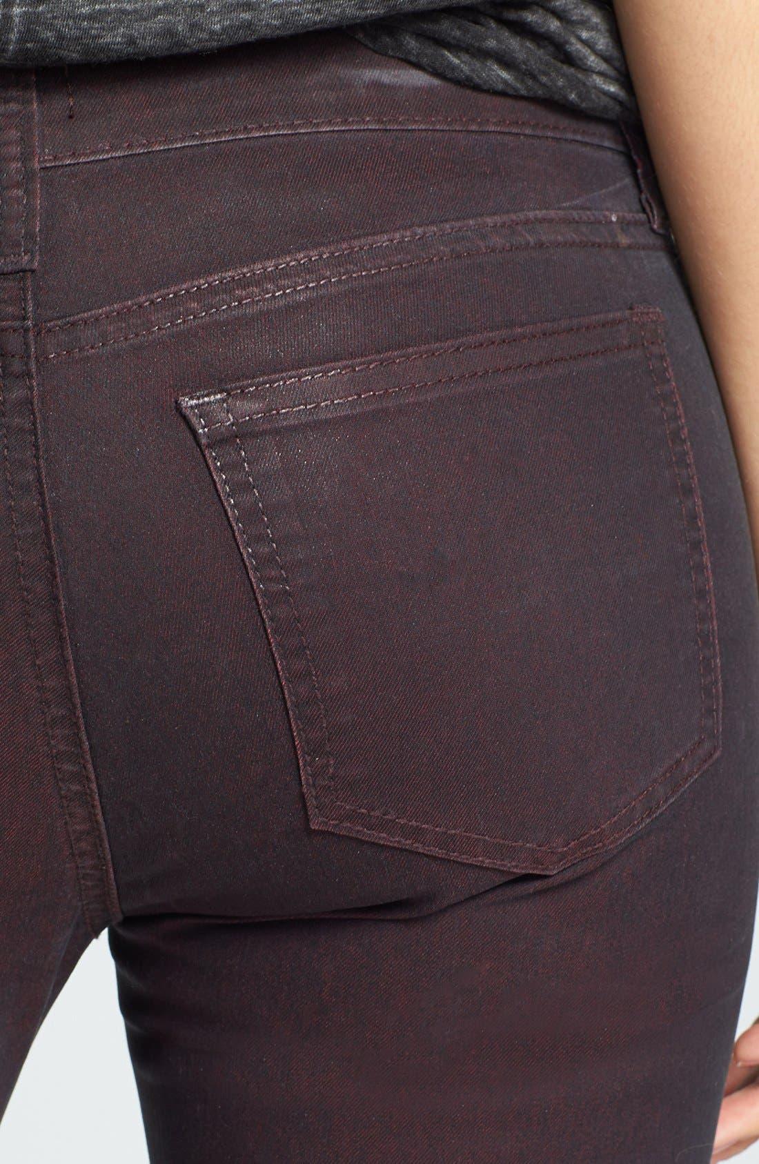 Alternate Image 3  - edyson Coated Skinny Jeans