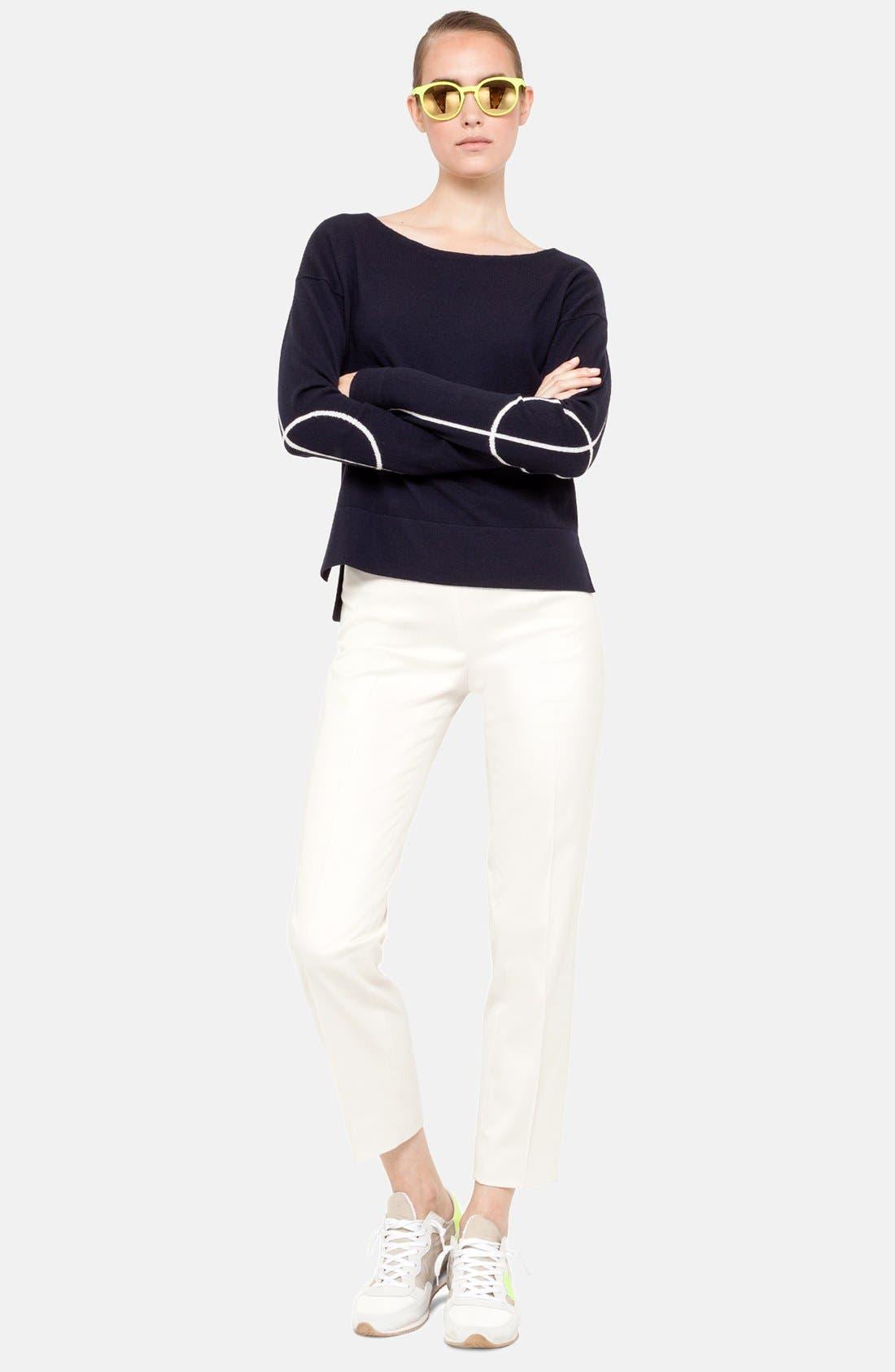 Alternate Image 1 Selected - Akris punto Grid Stripe Crop Sweater