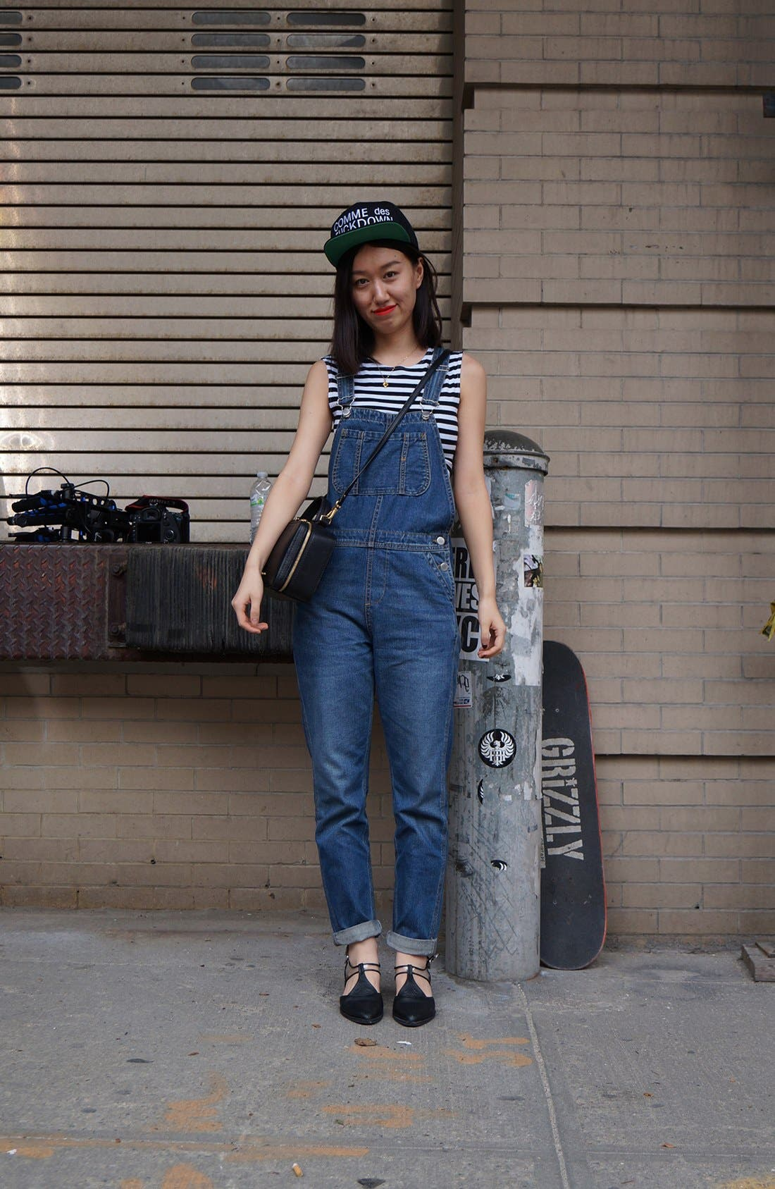 Alternate Image 1 Selected - Overall Short & Sweet Street Style Look