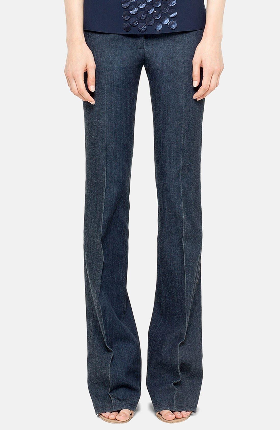 Main Image - Akris punto Bootcut Stretch Trousers