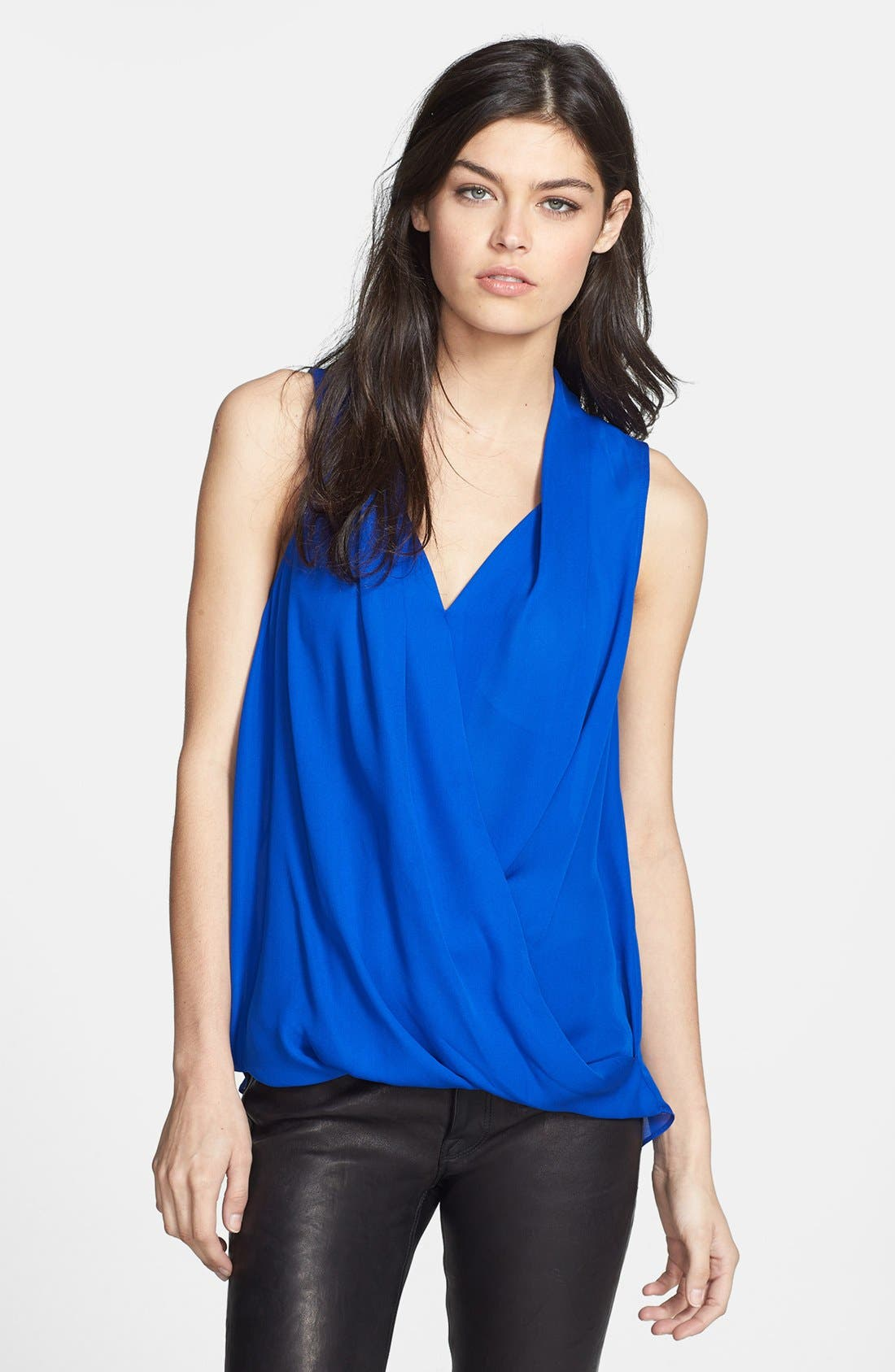 Alternate Image 1 Selected - Search for Sanity Drape Front Lace Yoke Top