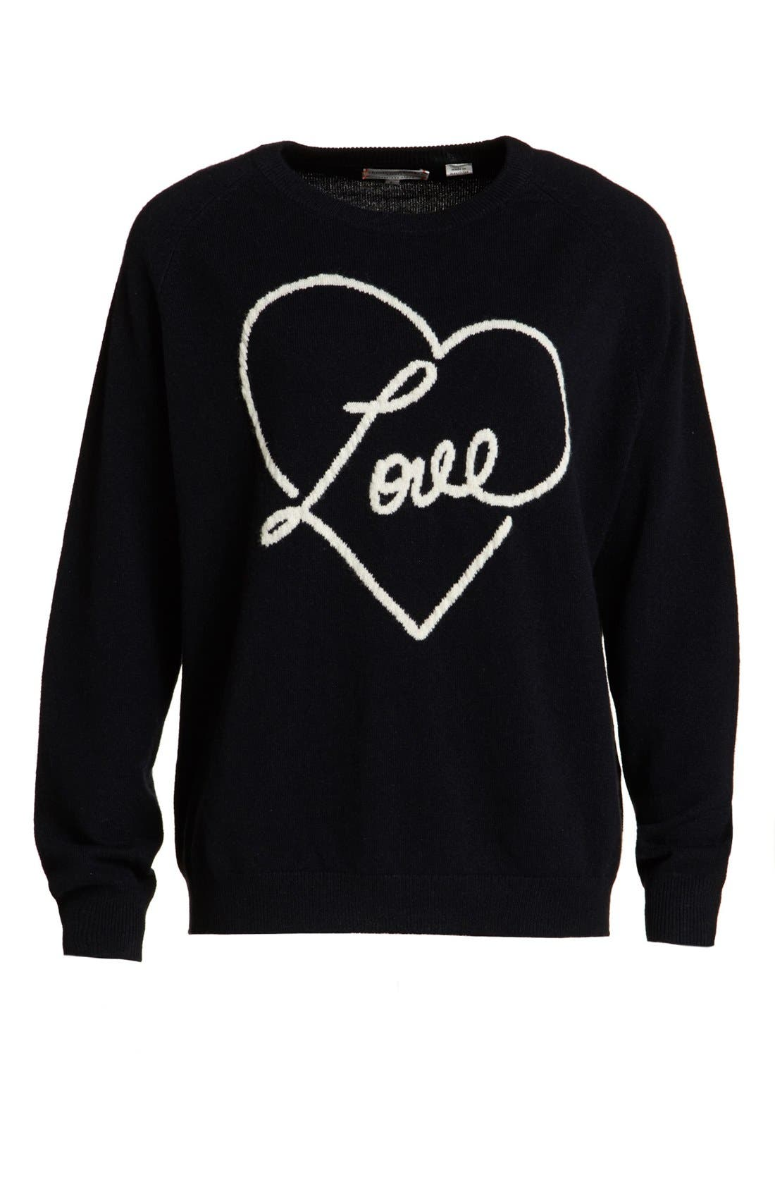 Alternate Image 1  - Chinti and Parker Cashmere 'Love' Sweater