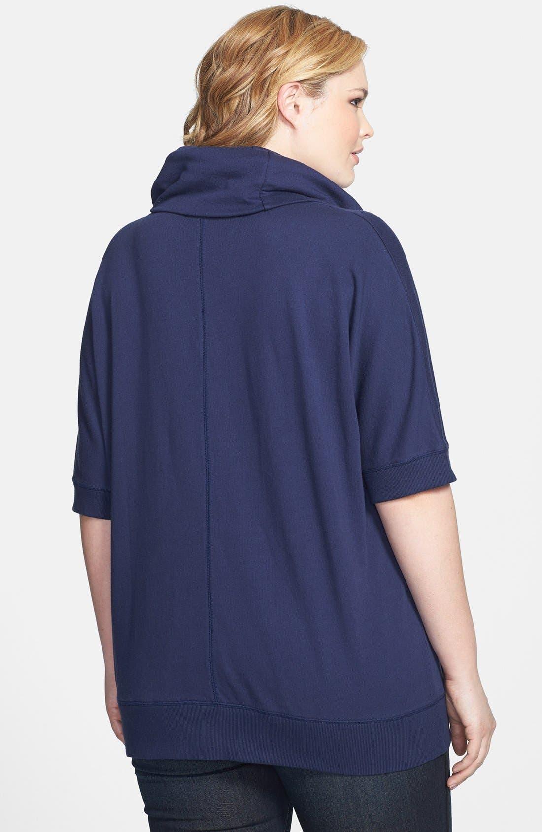 Alternate Image 2  - Caslon Cowl Neck Pullover (Plus Size)