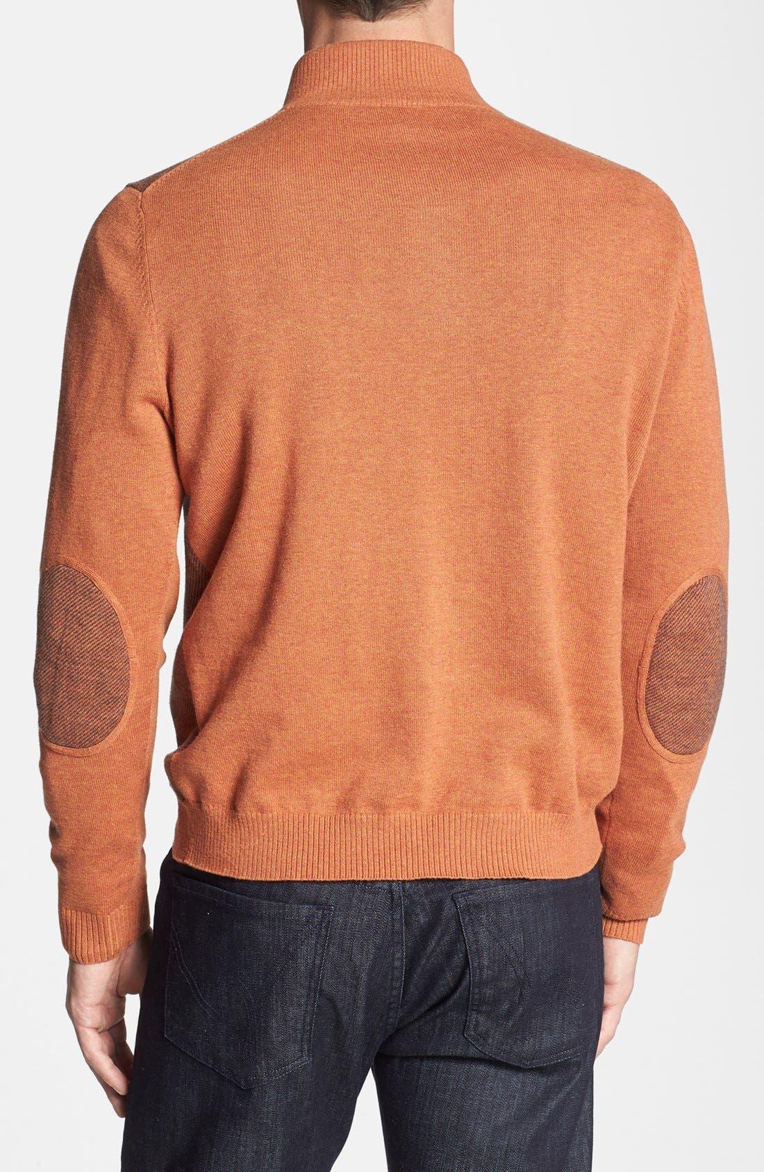 Alternate Image 2  - Robert Talbott Jacquard Quarter Zip Sweater