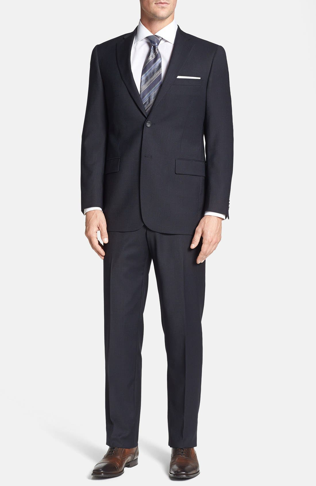 Alternate Image 1 Selected - Hart Schaffner Marx 'New York' Classic Fit Wool Suit