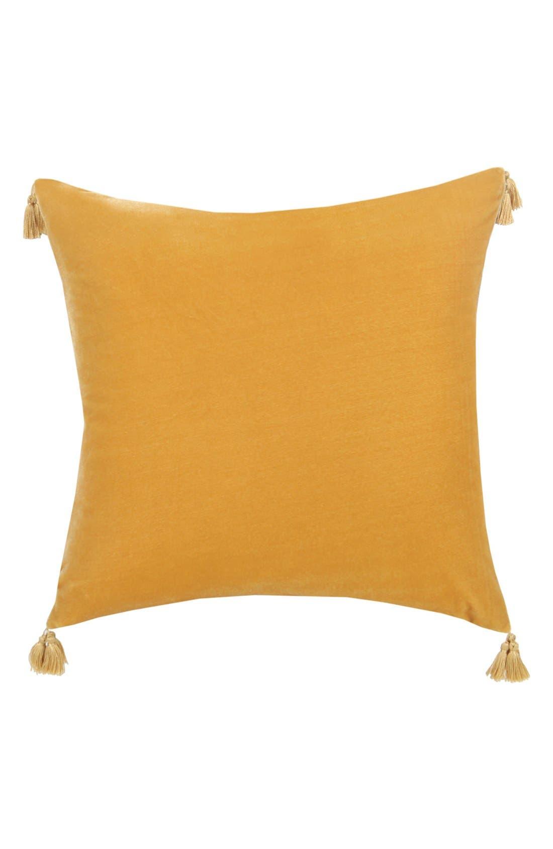 Alternate Image 1 Selected - Blissliving Home 'Addison' Velvet & Linen Pillow (Online Only)