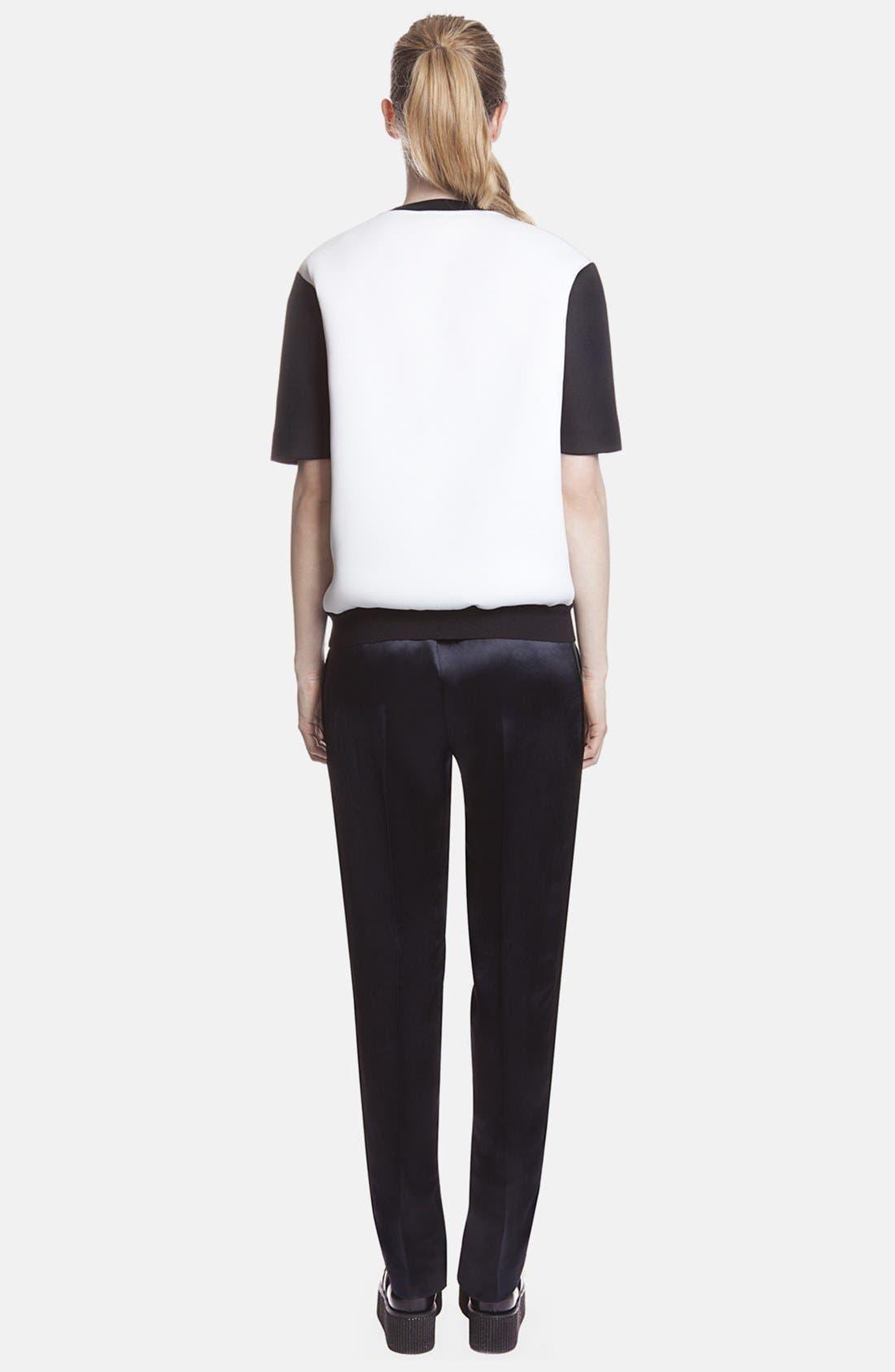 Alternate Image 2  - sandro 'Pirouette' Tuxedo Stripe Satin Pants