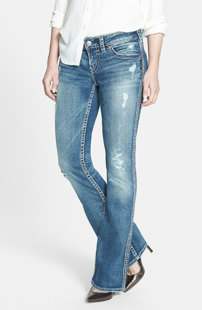 Silver Jeans Co Aiko Faux Flap Pocket Distressed