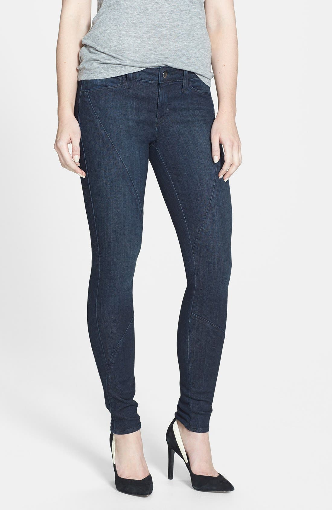 Main Image - Genetic 'Semira' Seamed Cigarette Skinny Jeans (Impulse)