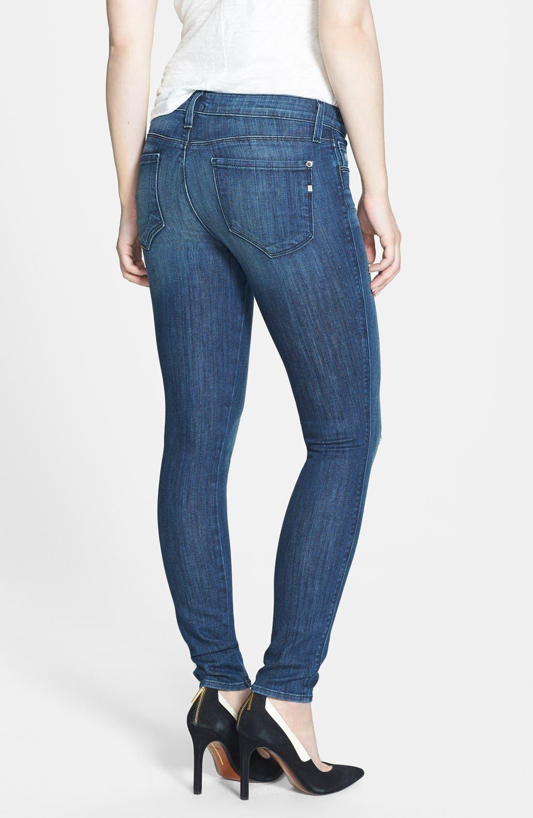 Alternate Image 2  - Genetic 'Shya' Cigarette Skinny Jeans (Enigma)
