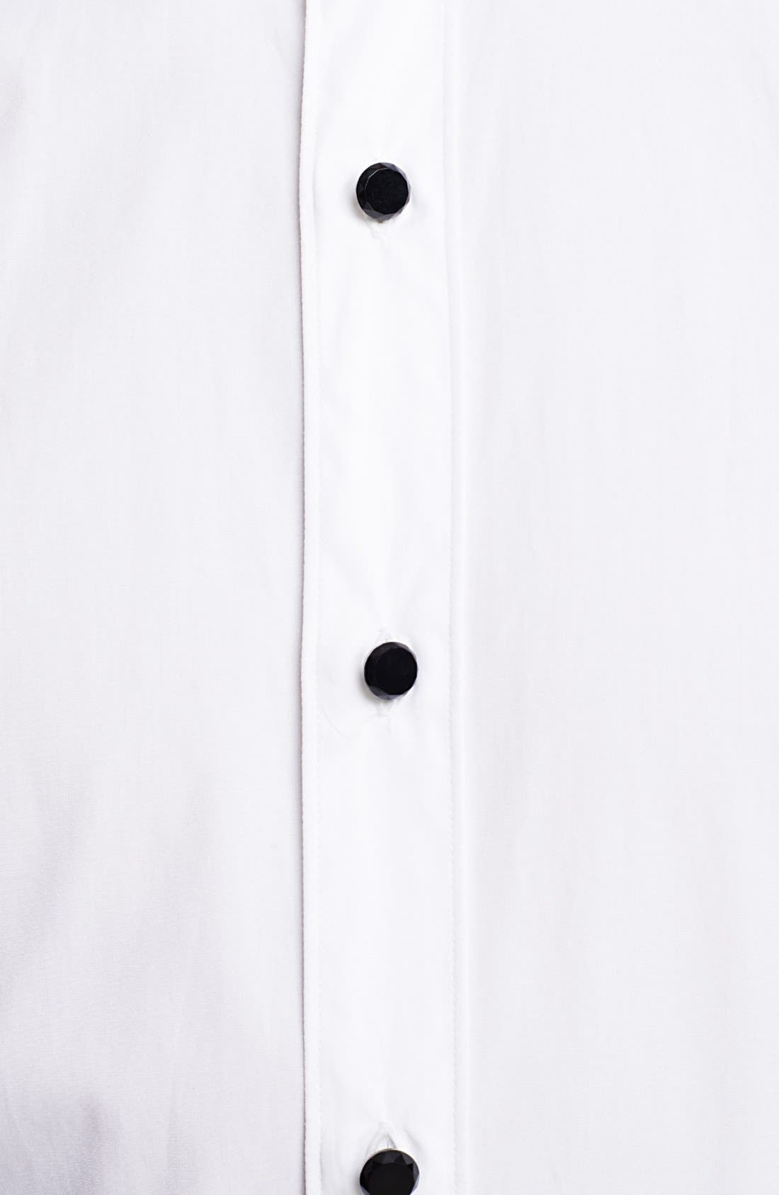 Alternate Image 3  - Lanvin Tuxedo Shirt with Glass Button Details