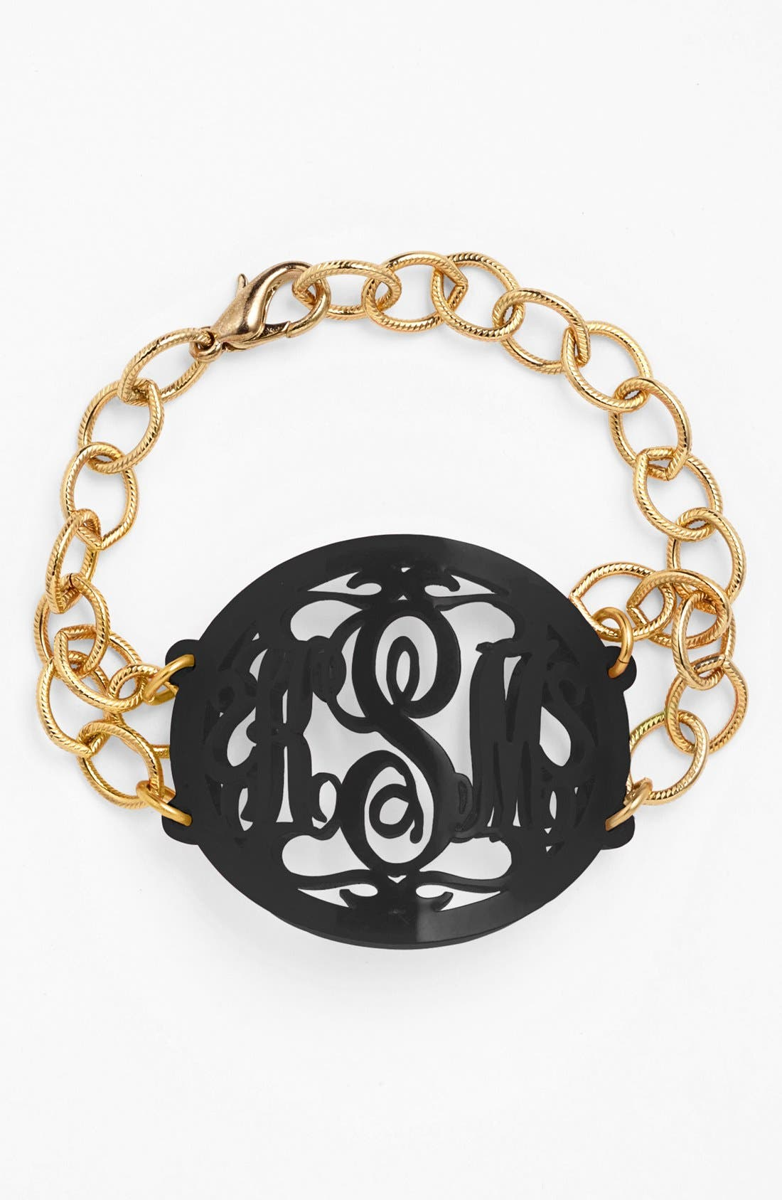Moon and Lola 'Annabel' Large Oval Personalized Monogram Bracelet (Nordstrom Exclusive)
