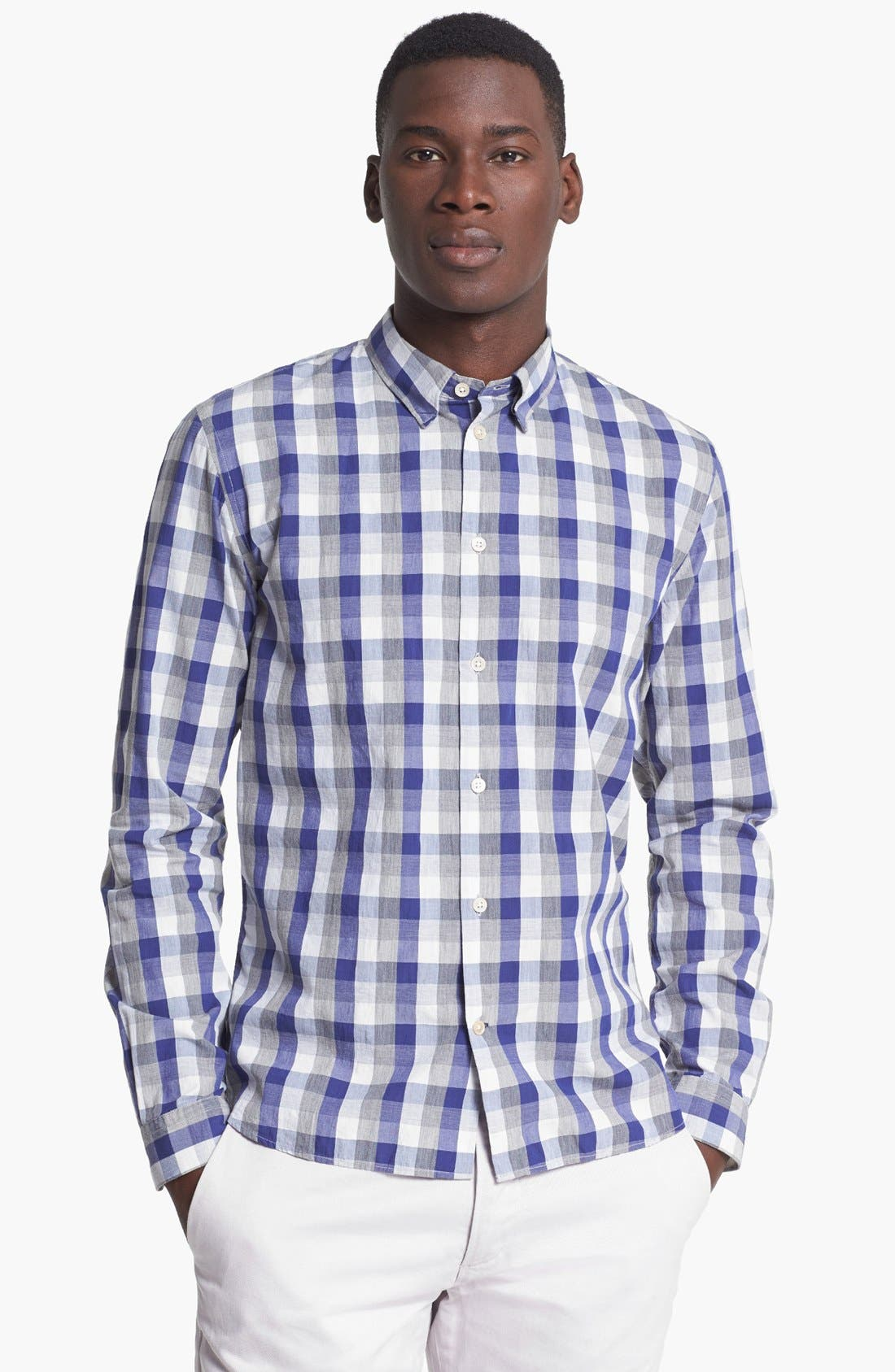 Alternate Image 1 Selected - Paul Smith Jeans Slim Fit Check Cotton Shirt