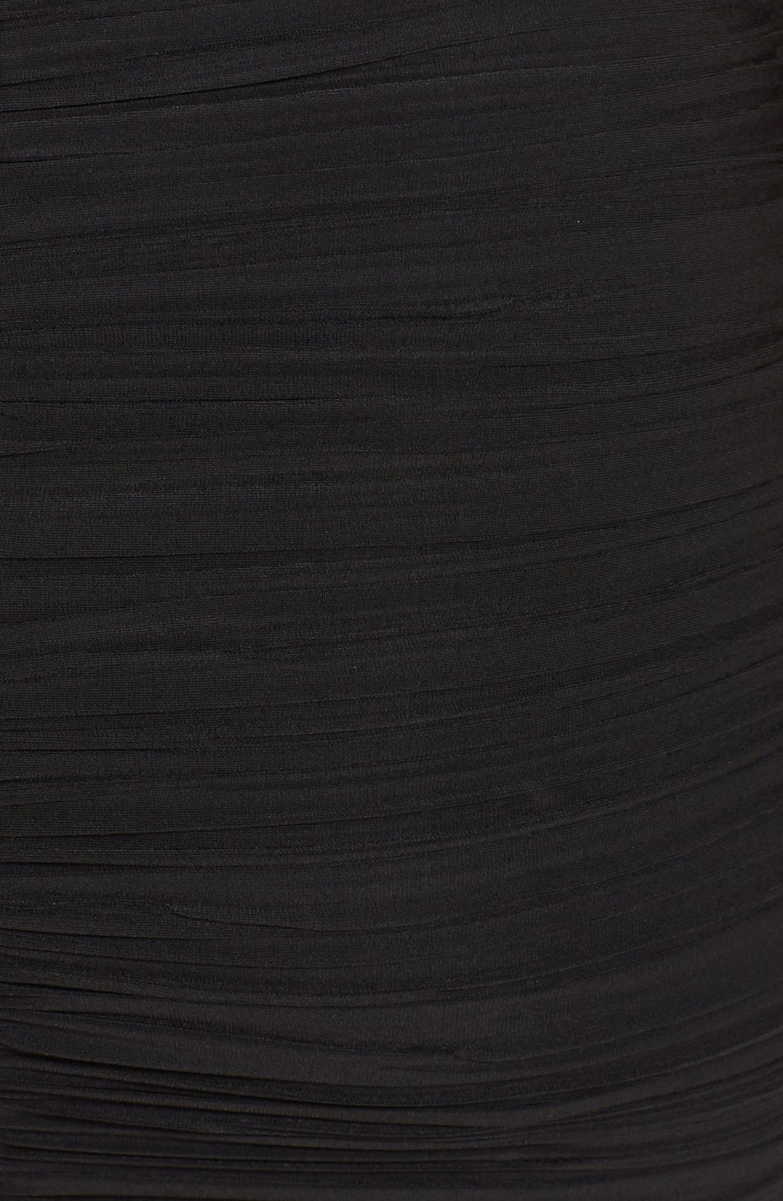 Alternate Image 3  - BCBGMAXAZRIA Ruched Cutout Jersey Minidress