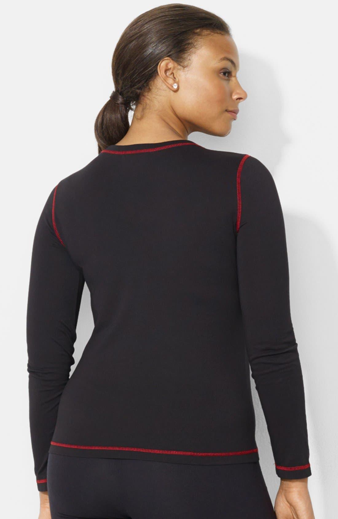 Alternate Image 2  - Lauren Ralph Lauren Crewneck Cotton Top (Plus Size)