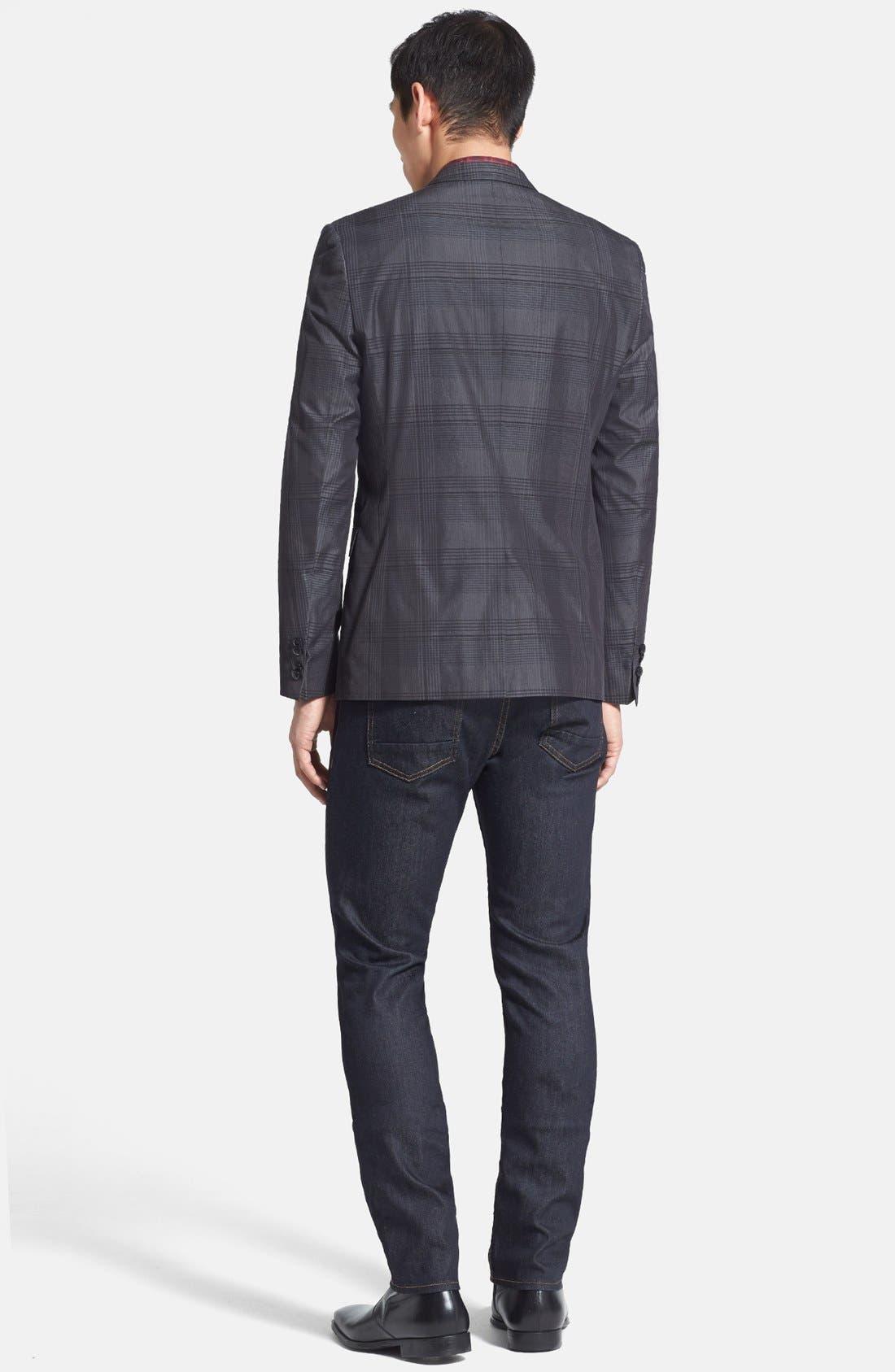 Alternate Image 5  - HUGO 'Adris' Extra Trim Fit Plaid Sportcoat