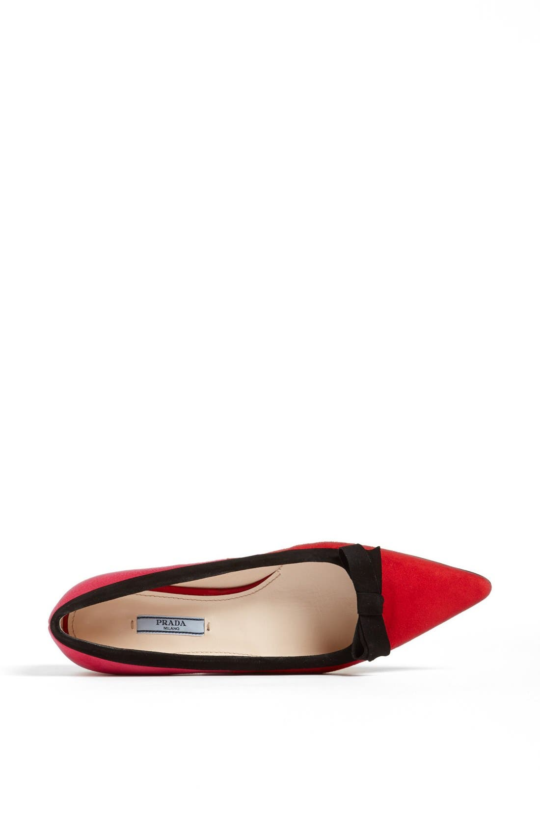 Alternate Image 3  - Prada Tricolor Bow Pointy Toe Flat