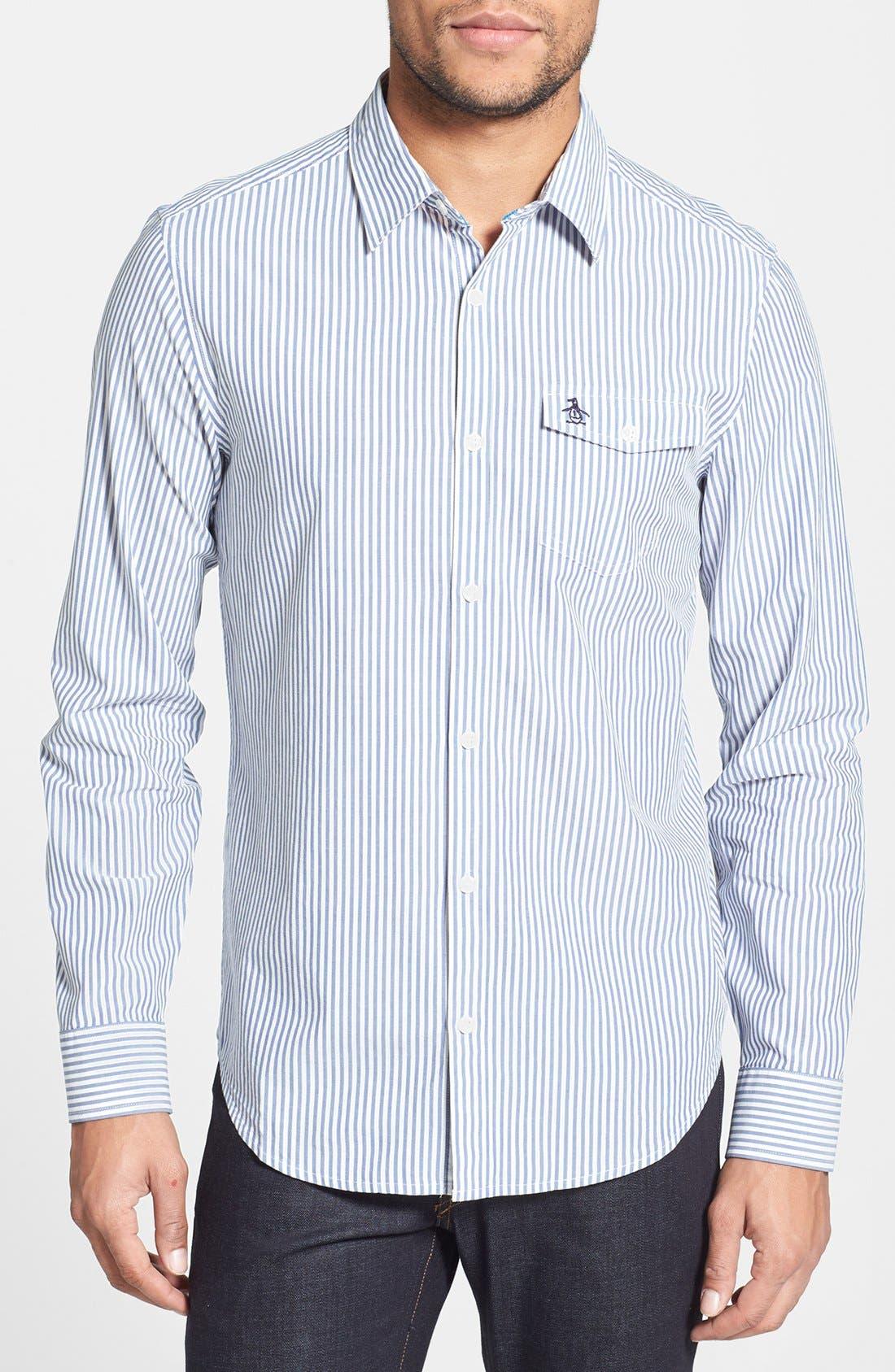 Alternate Image 1 Selected - Original Penguin Heritage Fit Stripe Sport Shirt