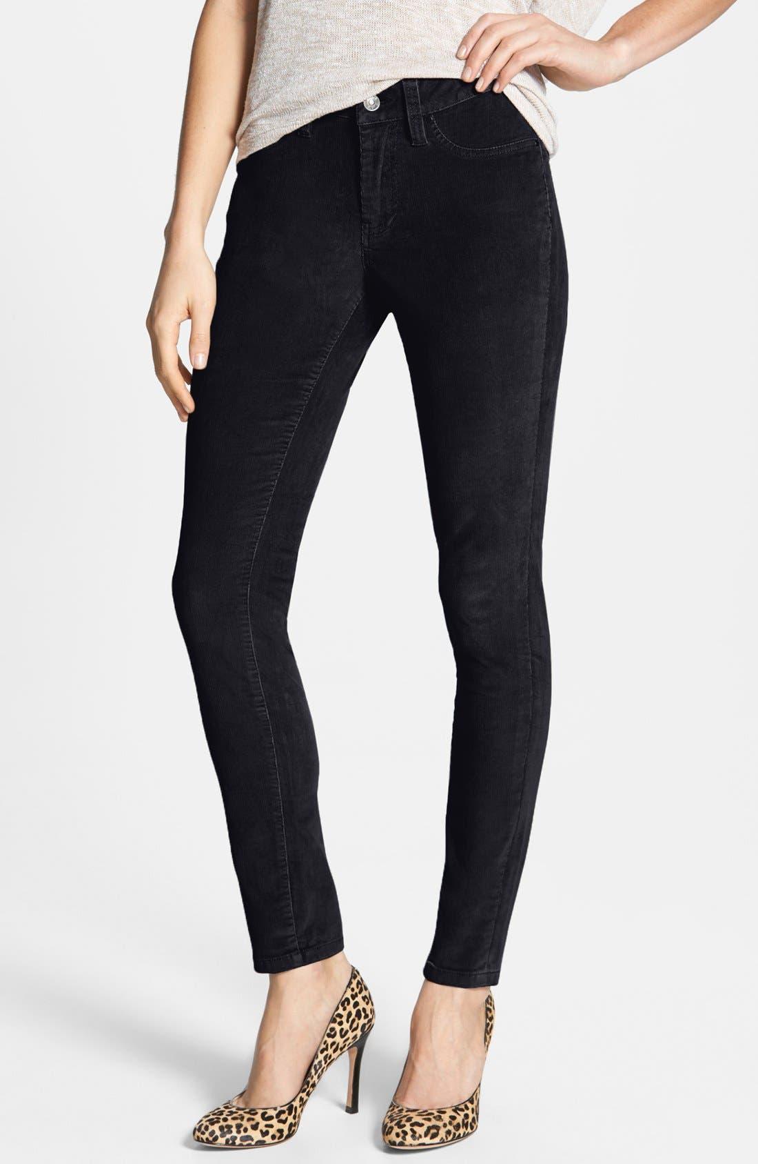 Alternate Image 1 Selected - Jag Jeans 'Olivia' Corduroy Leggings (Petite)