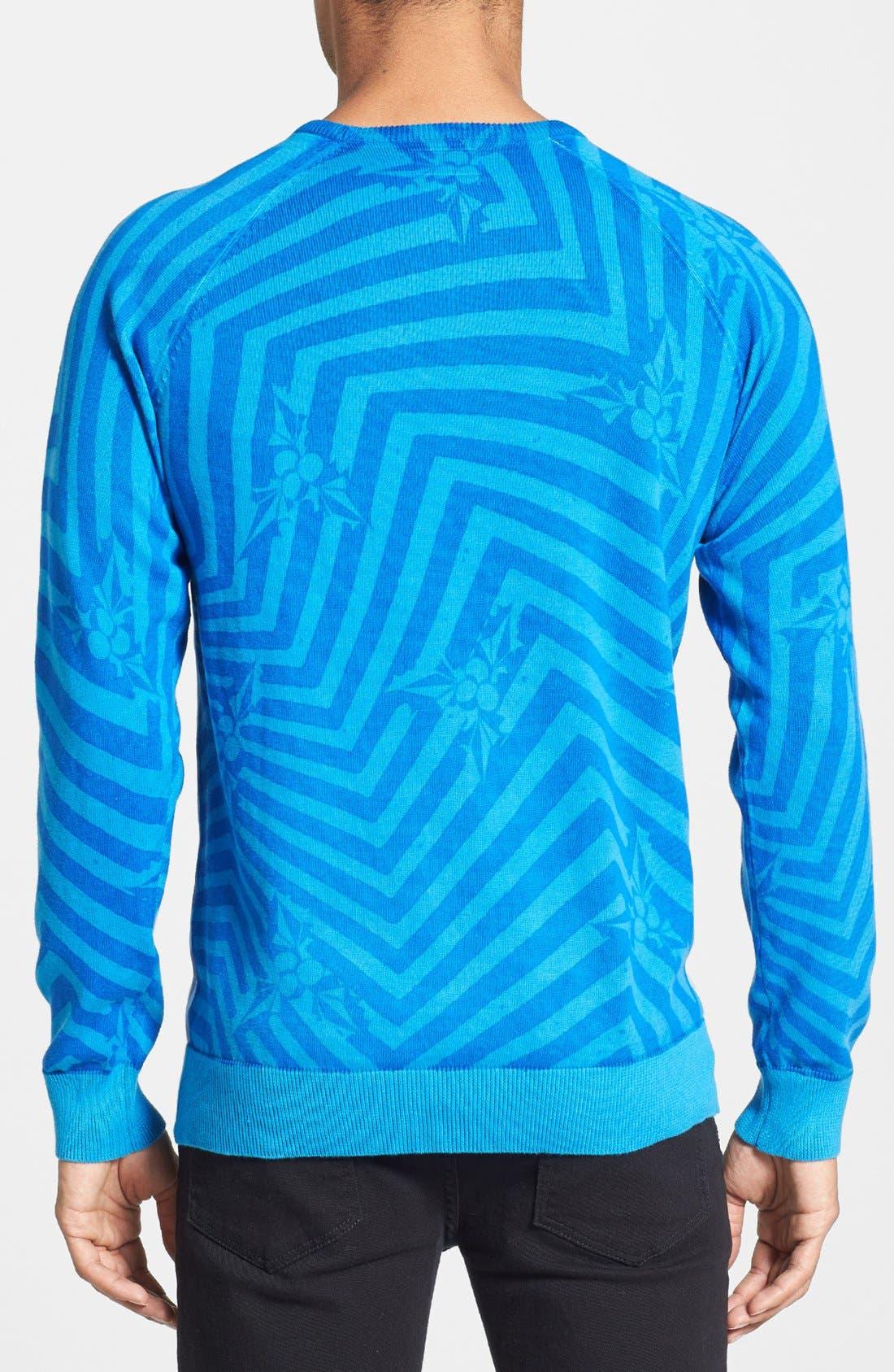 Alternate Image 2  - Volcom 'Knogger' Print Crewneck Sweater