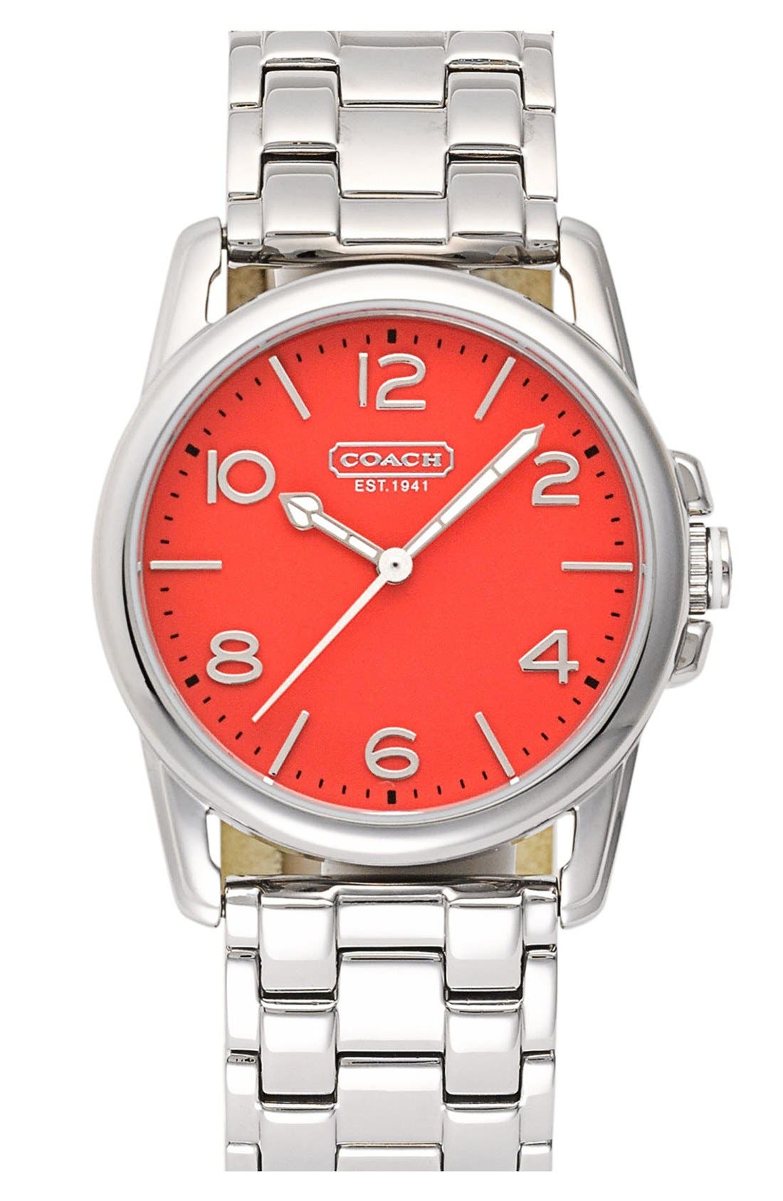 Alternate Image 1 Selected - COACH 'Sydney' Round Bracelet Watch, 32mm