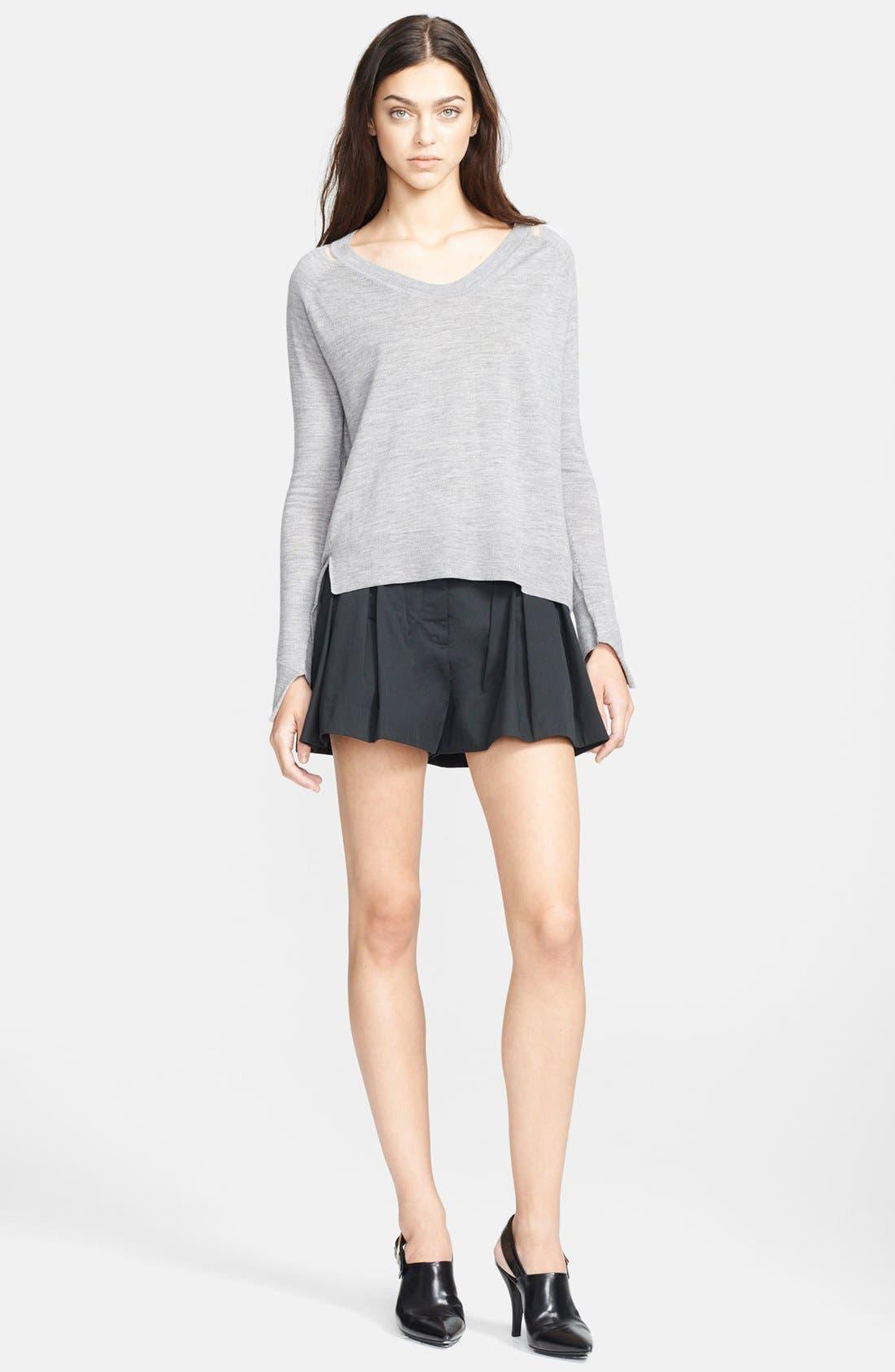 Alternate Image 3  - Alexander Wang Mesh Shoulder Sweater
