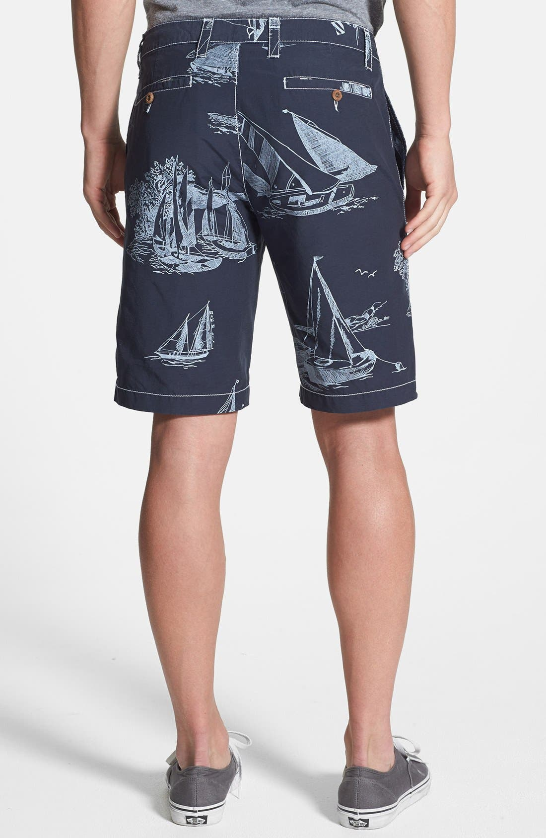 Alternate Image 2  - Tailor Vintage Sailboat Print Hybrid Shorts