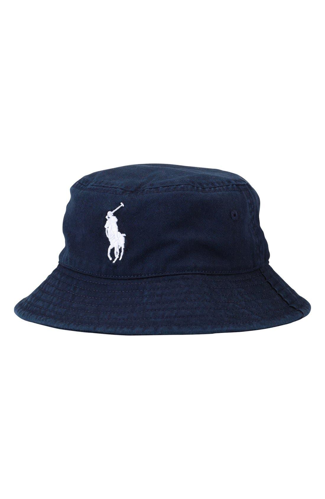 Alternate Image 1 Selected - Ralph Lauren Chino Bucket Hat (Toddler Boys)