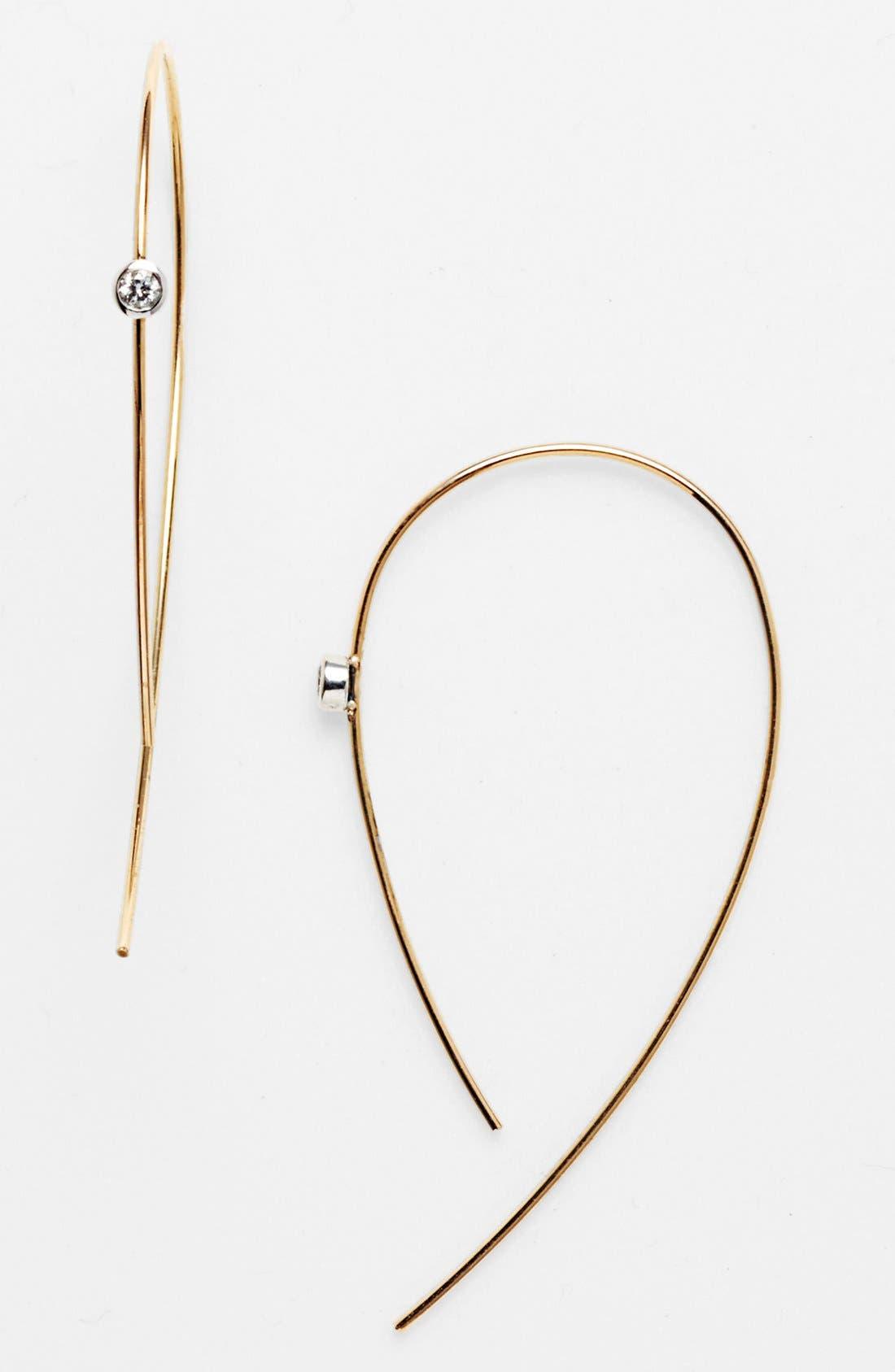 Alternate Image 1 Selected - Lana Jewelry 'Spellbound - Hooked on Hoops' Diamond Hoop Earrings
