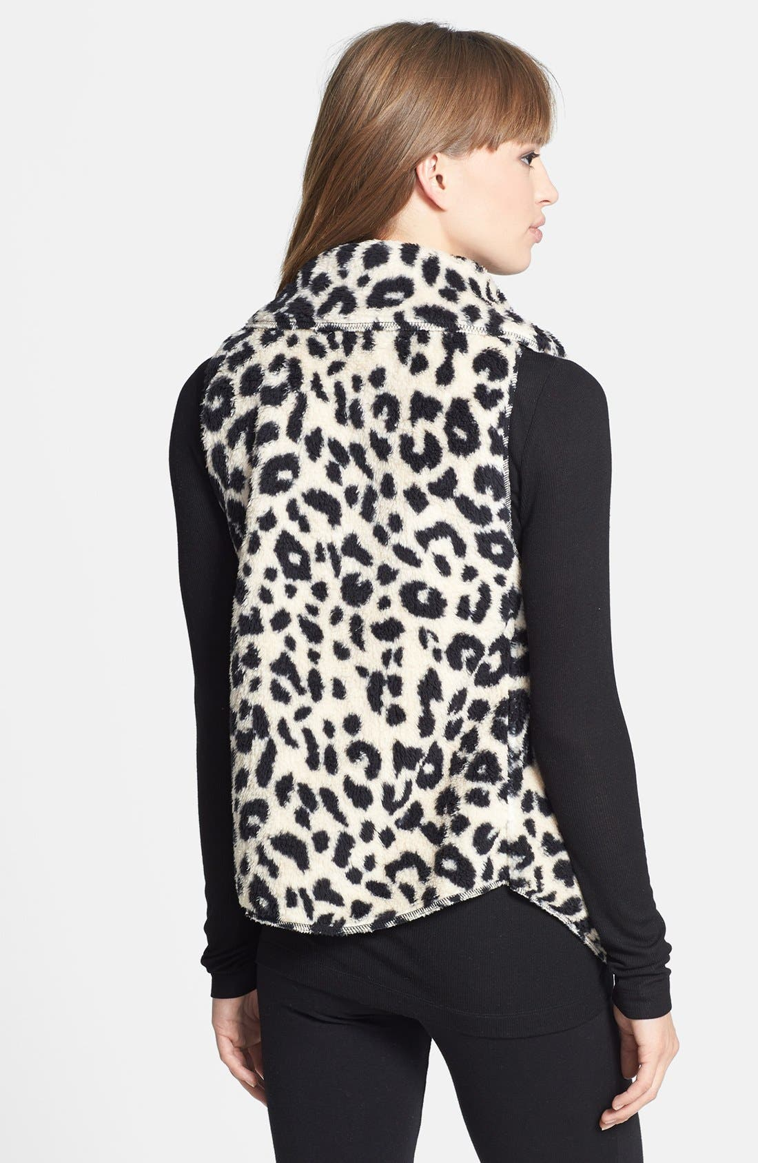 Alternate Image 2  - PJ Salvage 'Cozy' Plush Leopard Vest