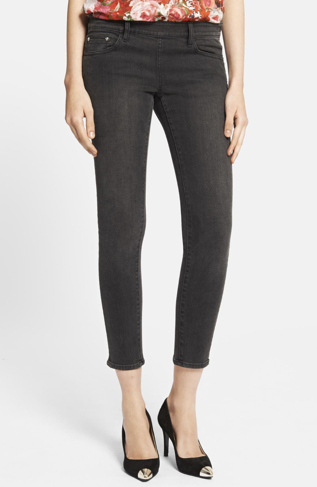 Main Image - The Kooples Side Zip Crop Skinny Jeans