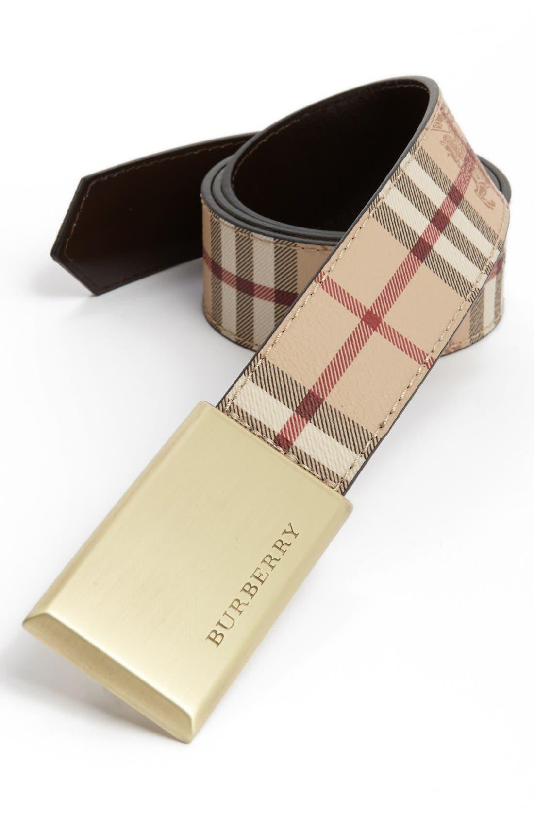 Main Image - Burberry 'Barnsfield' Check Belt
