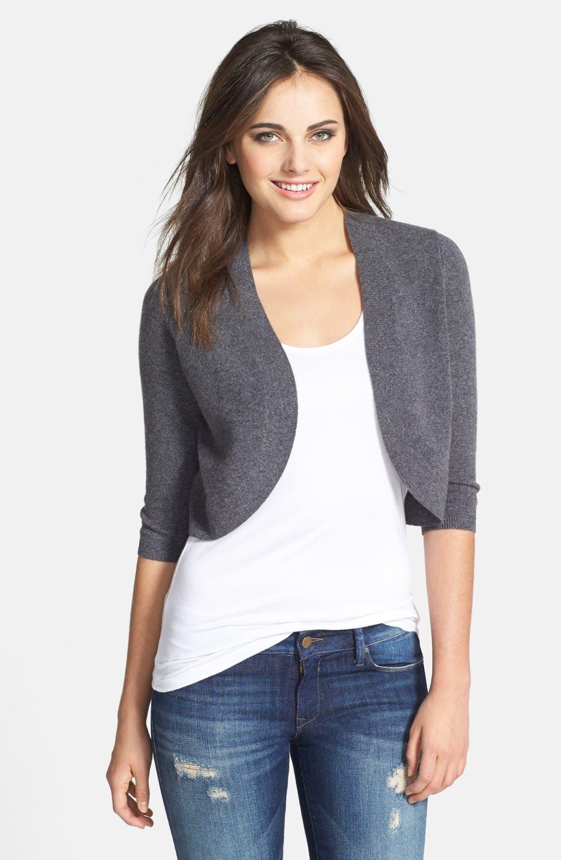 Alternate Image 1 Selected - Halogen® Wool & Cashmere Shrug (Regular & Petite)