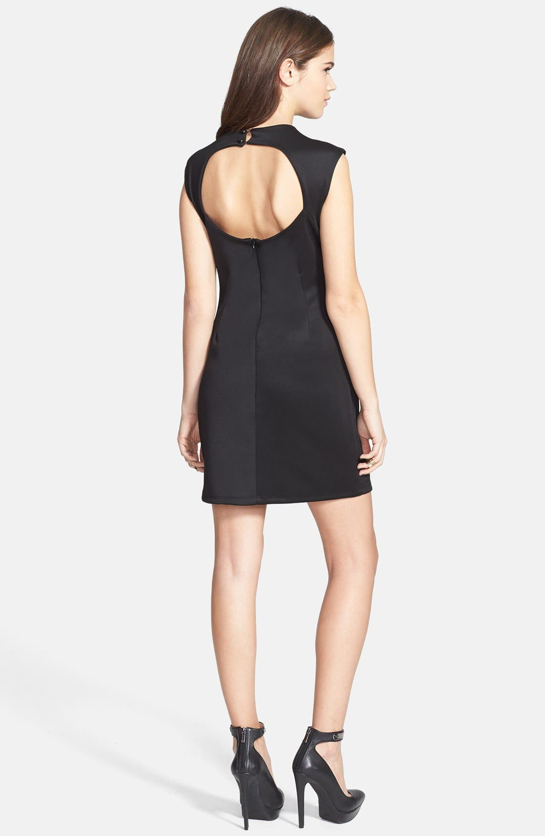 Alternate Image 2  - Minty Back Cutout Body-Con Dress (Juniors) (Online Only)