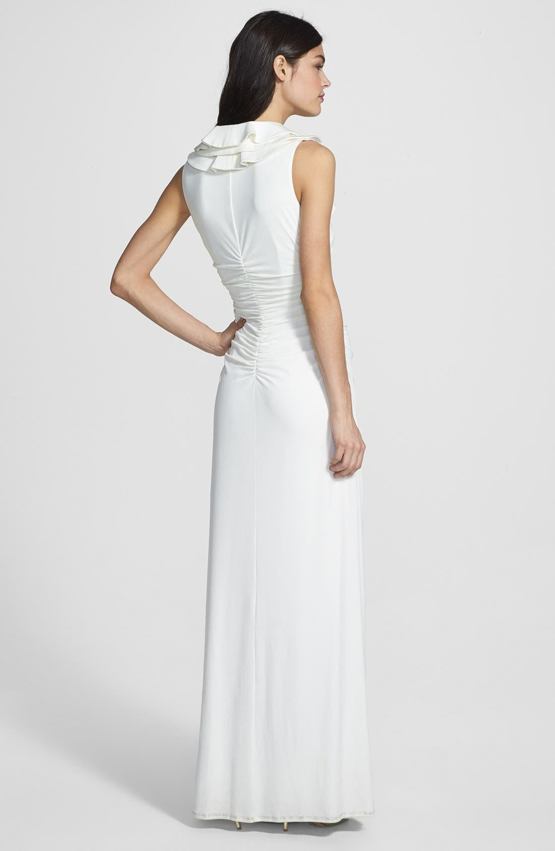 Alternate Image 2  - Laundry by Shelli Segal Ruffled Jersey Gown