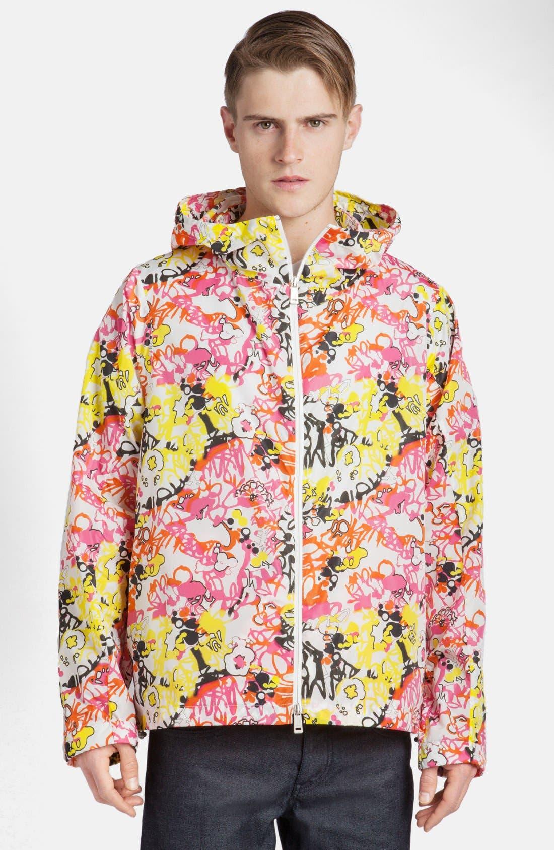 Alternate Image 1 Selected - Jil Sander Abstract Print Hooded Jacket