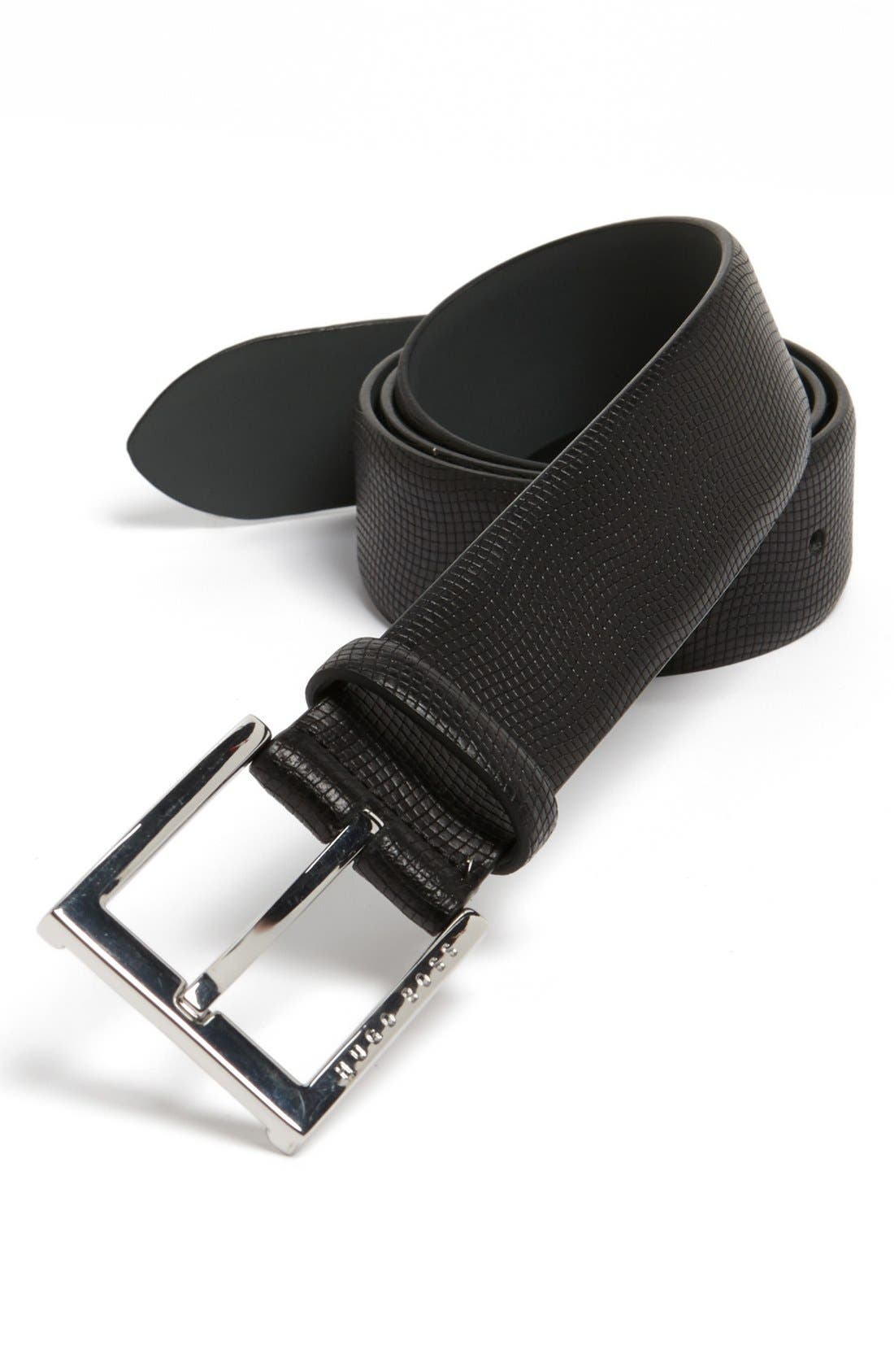 Alternate Image 1 Selected - BOSS HUGO BOSS 'Perrie' Leather Belt