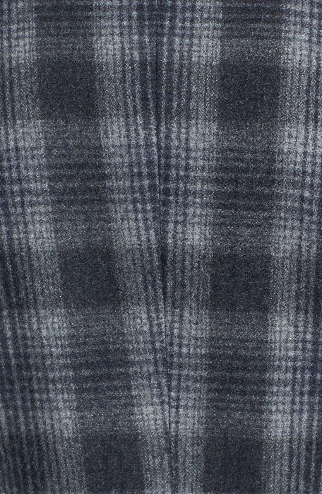 Alternate Image 3  - Topman Plaid Wool Blend Coat